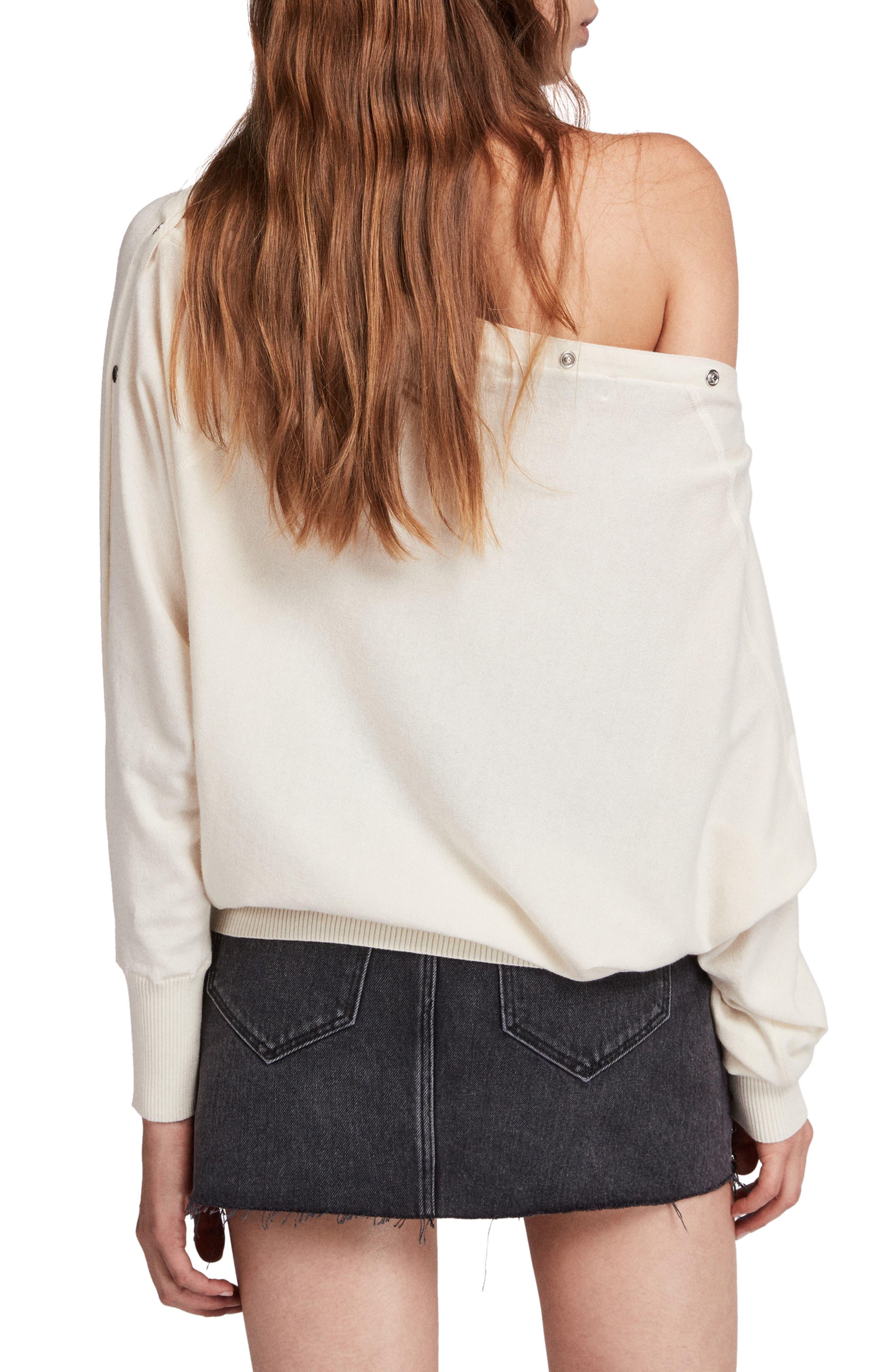 Elle Sweater,                             Alternate thumbnail 2, color,                             CHALK WHITE