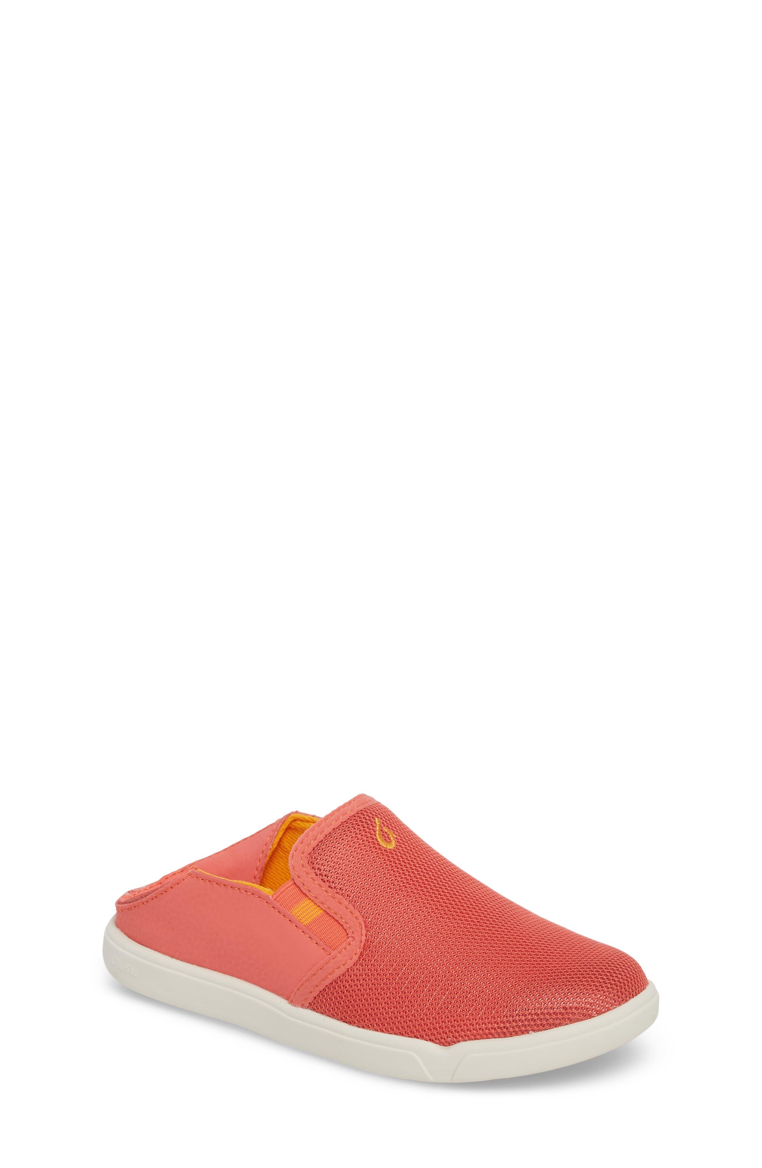 Girls Olukai Pehuea Maka Collapsible SlipOn Size 3 M  Coral