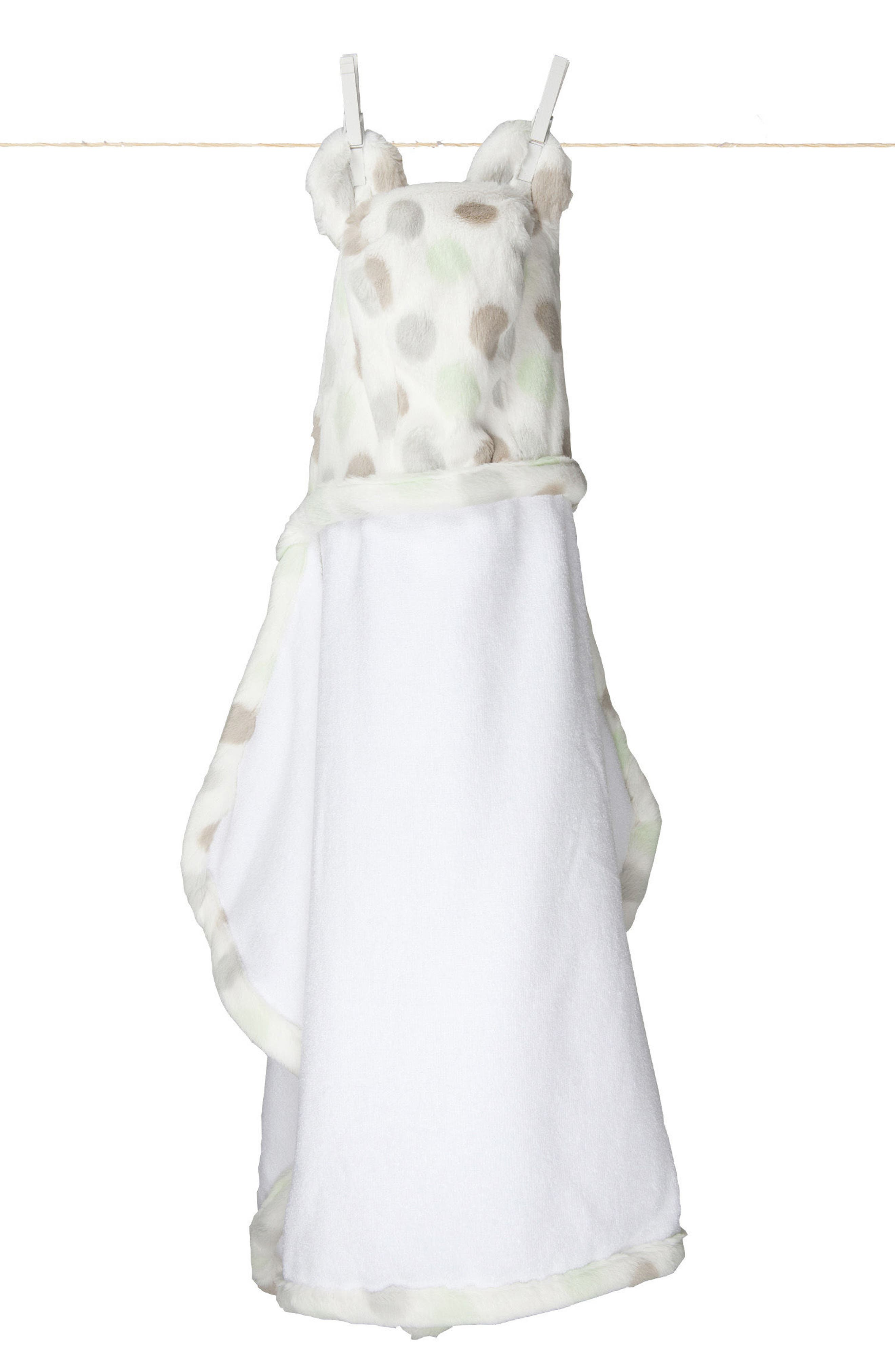 'Luxe Dot' Hooded Towel,                             Main thumbnail 1, color,                             CELADON
