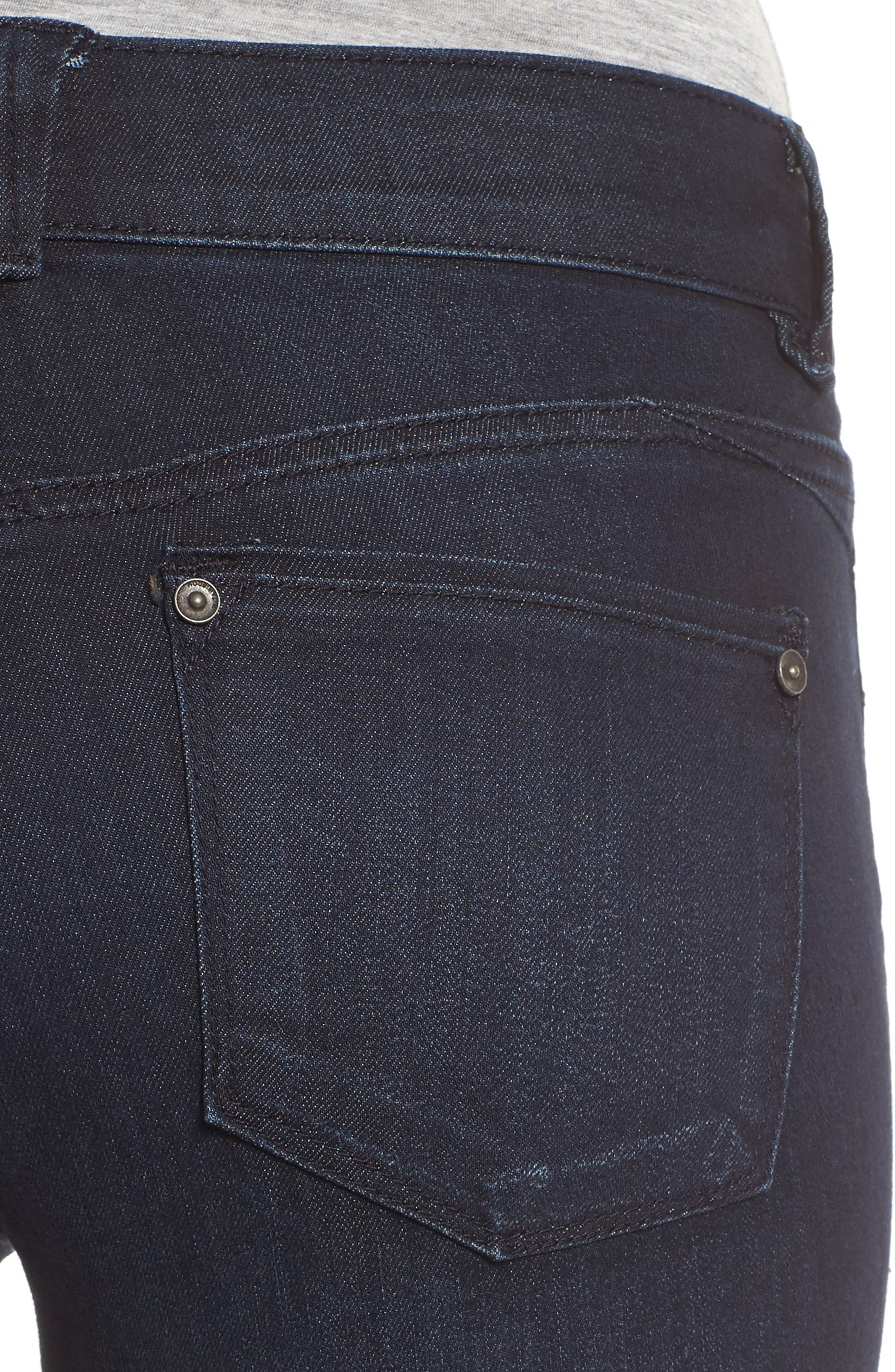 Ab-solution Ankle Zip Skinny Jeans,                             Alternate thumbnail 4, color,                             410