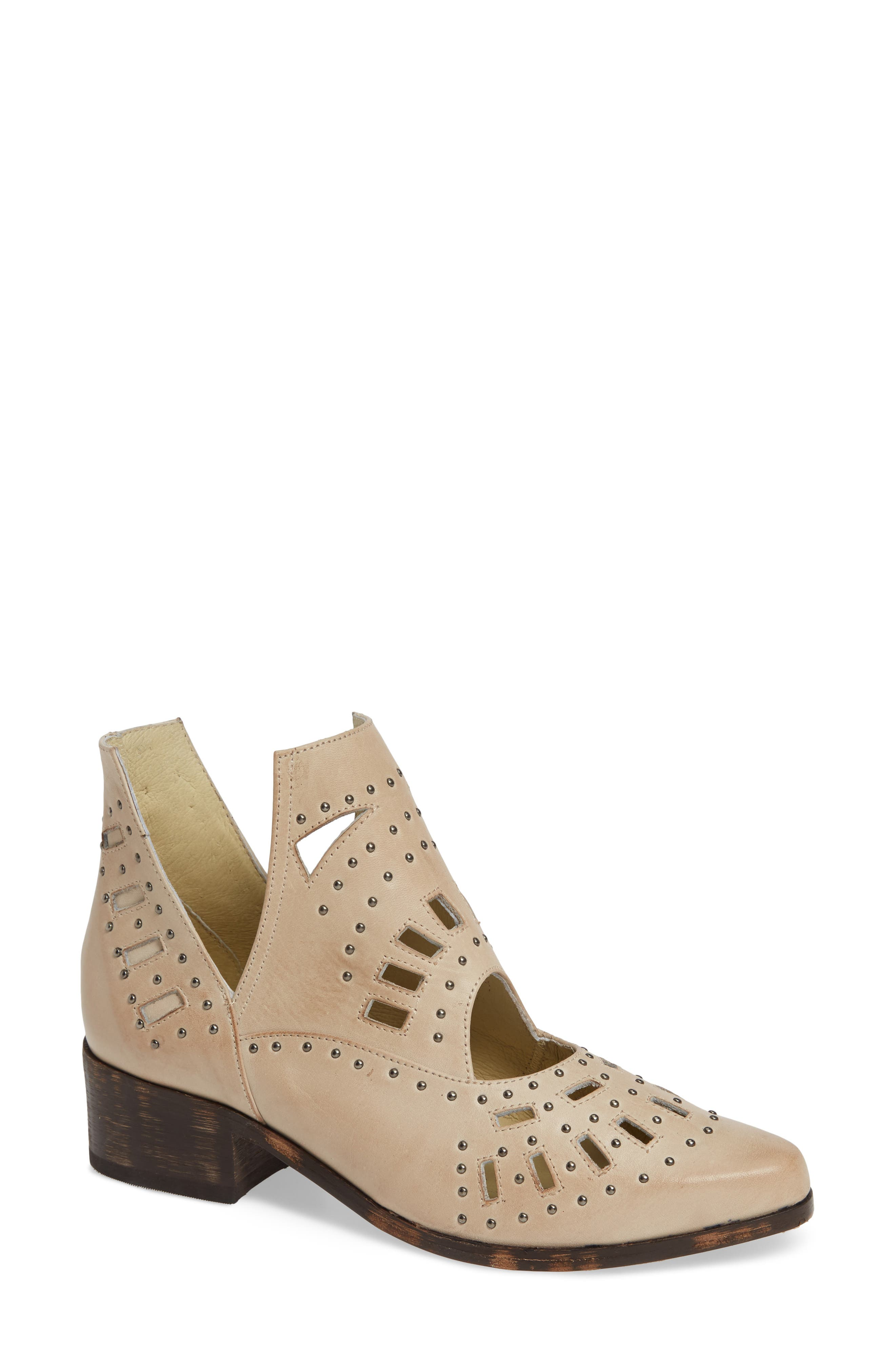Devlyn Bootie,                         Main,                         color, WHITE LEATHER