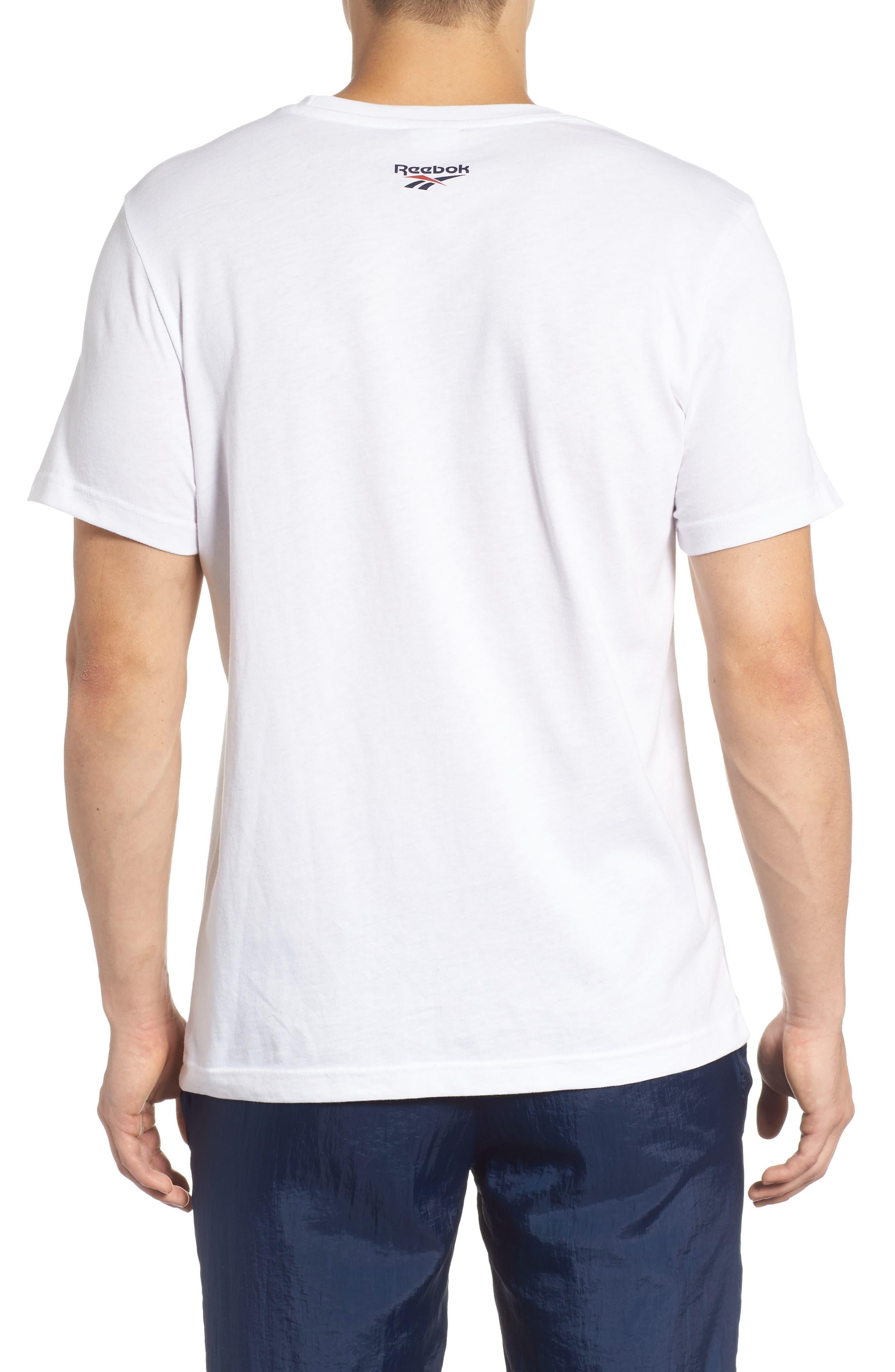B-Ball Vector Logo T-Shirt,                             Alternate thumbnail 2, color,                             WHITE
