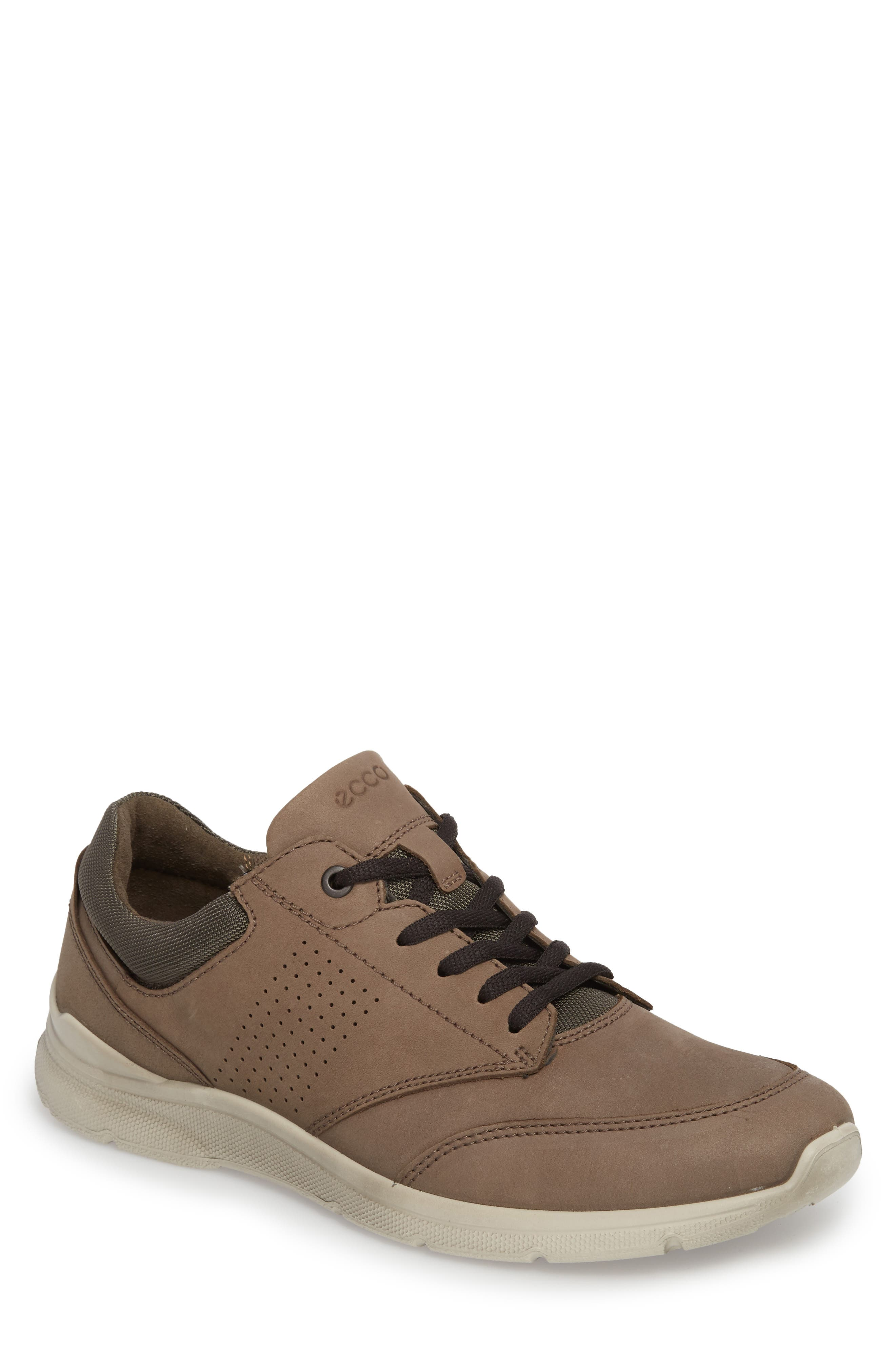 Irving Sneaker,                         Main,                         color, DARK CLAY LEATHER