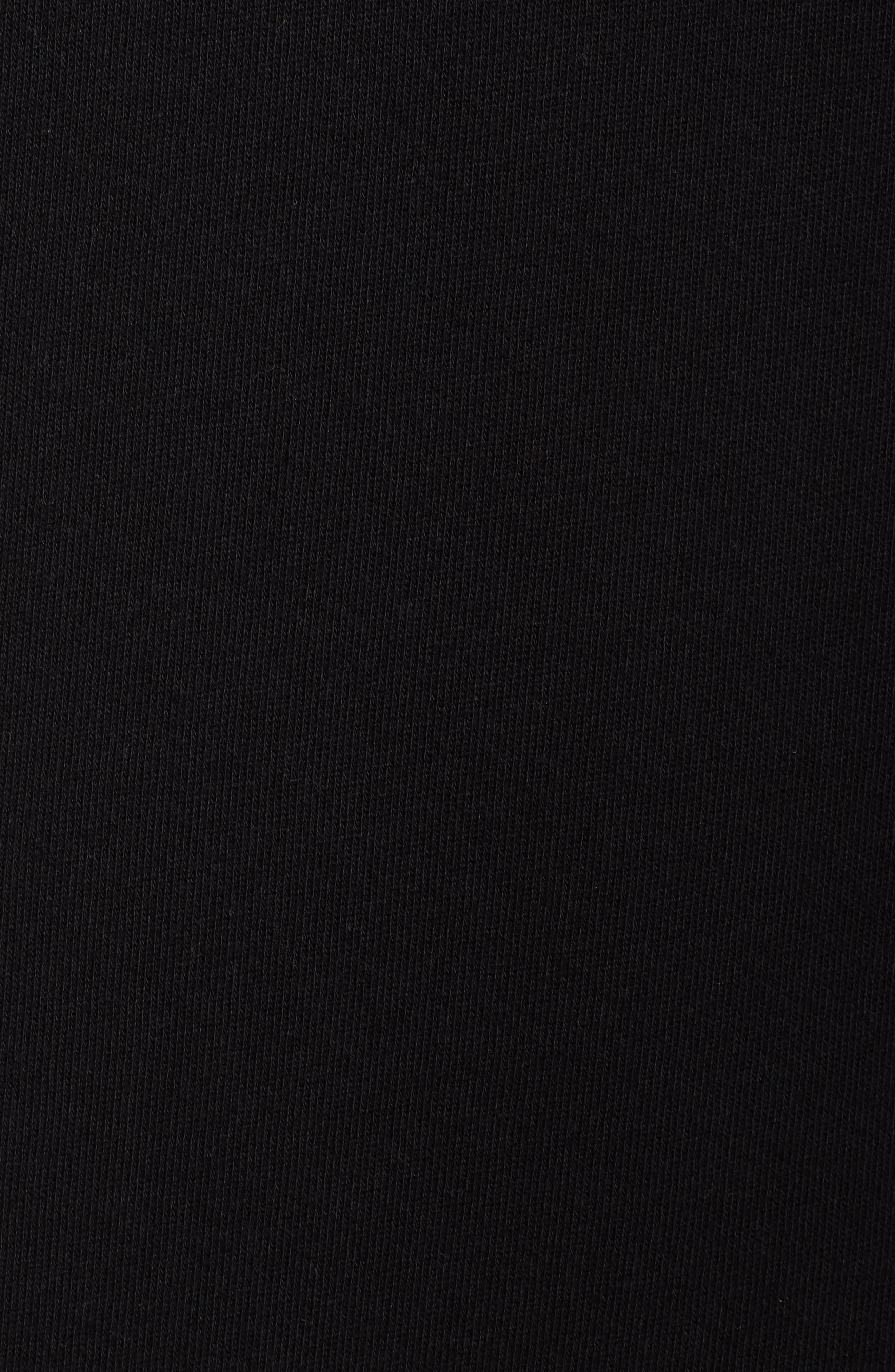 Off-Duty Hooded Sweatshirt Dress,                             Alternate thumbnail 5, color,                             001