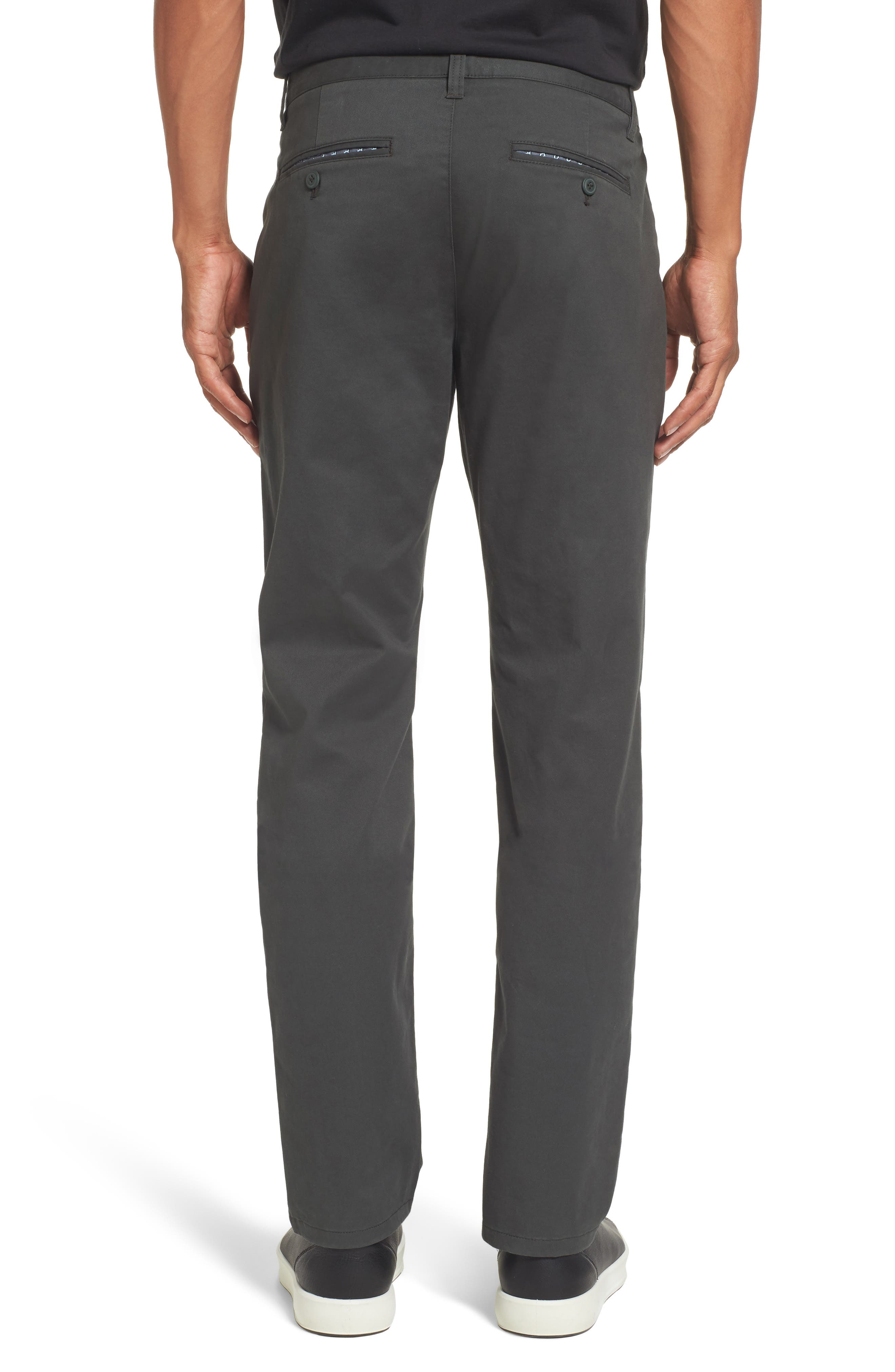 Tailored Fit Washed Stretch Cotton Chinos,                             Alternate thumbnail 44, color,