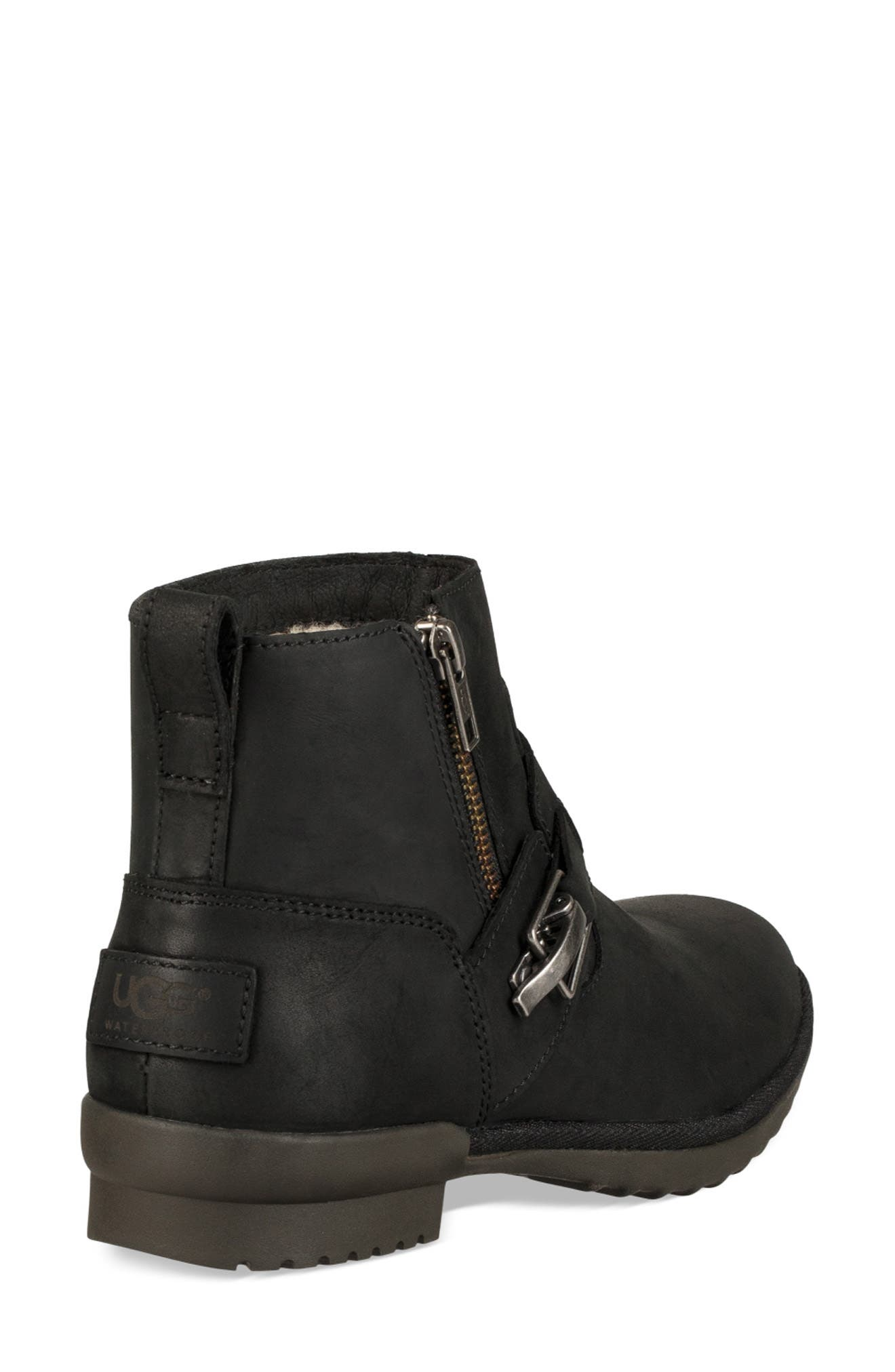 Cheyne Bootie,                             Alternate thumbnail 2, color,                             BLACK LEATHER