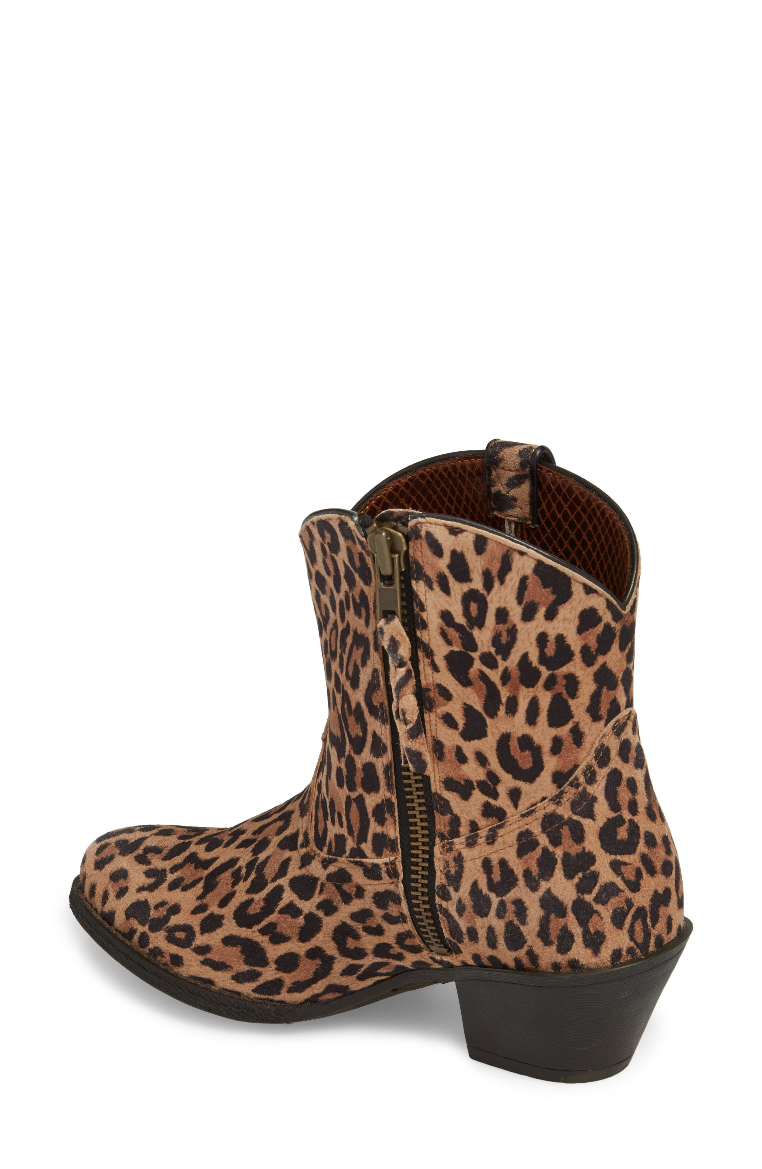 Darlin Short Western Boot,                             Alternate thumbnail 2, color,                             LEOPARD PRINT LEATHER