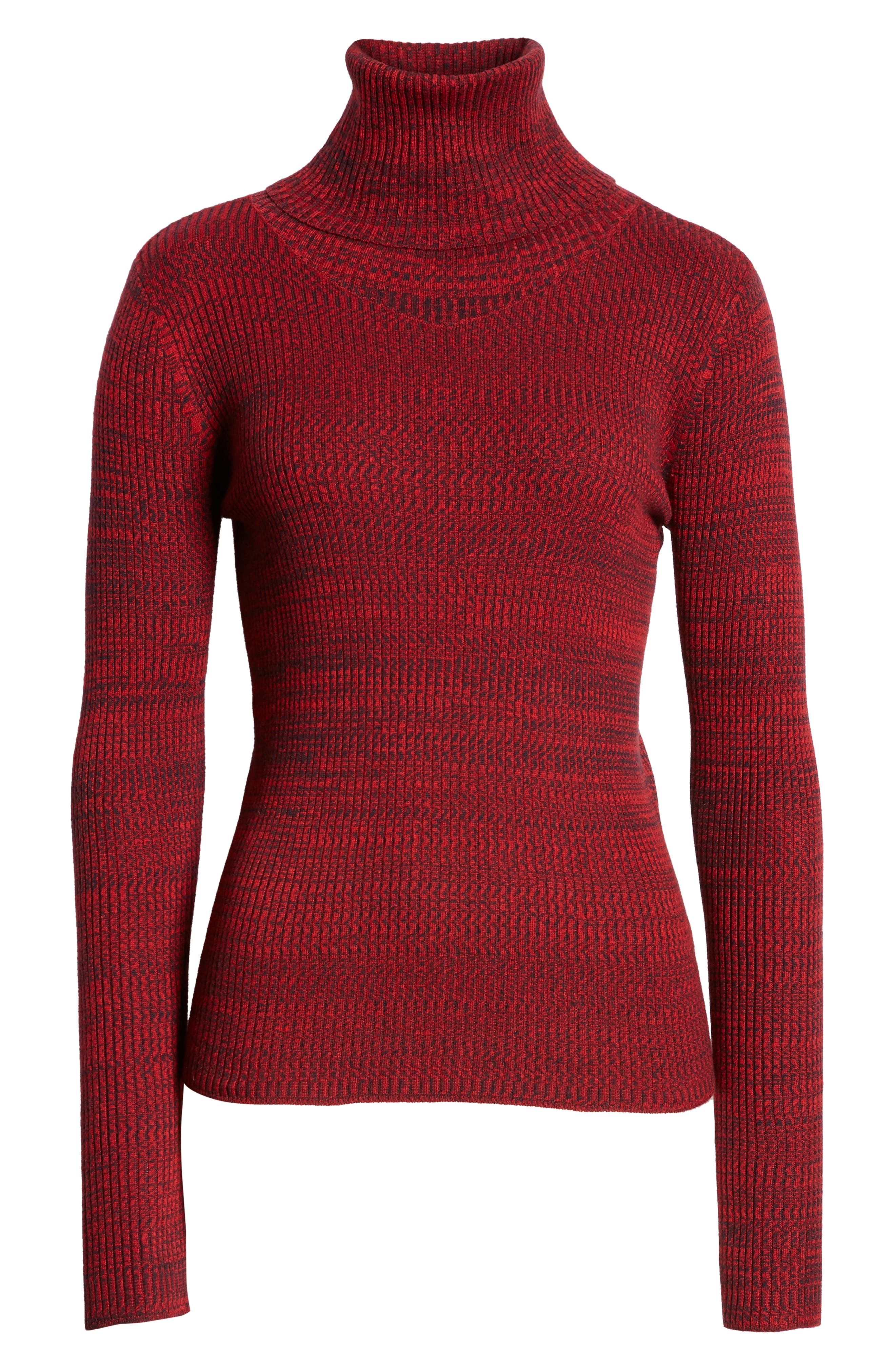 Space Dye Turtleneck Sweater,                             Alternate thumbnail 6, color,                             RED CHINOISE COMBO