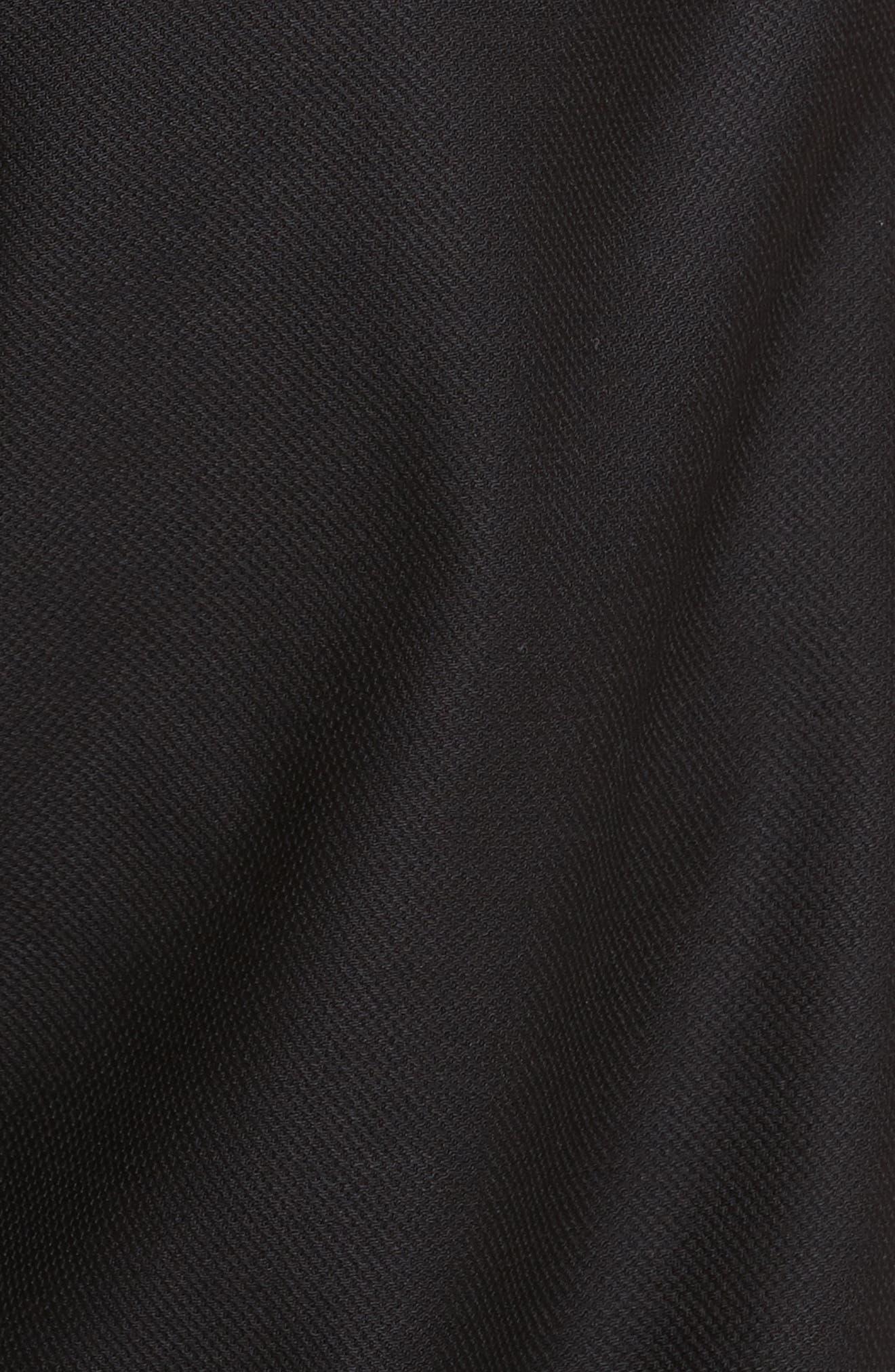 Drawstring Wool Trousers,                             Alternate thumbnail 5, color,                             001