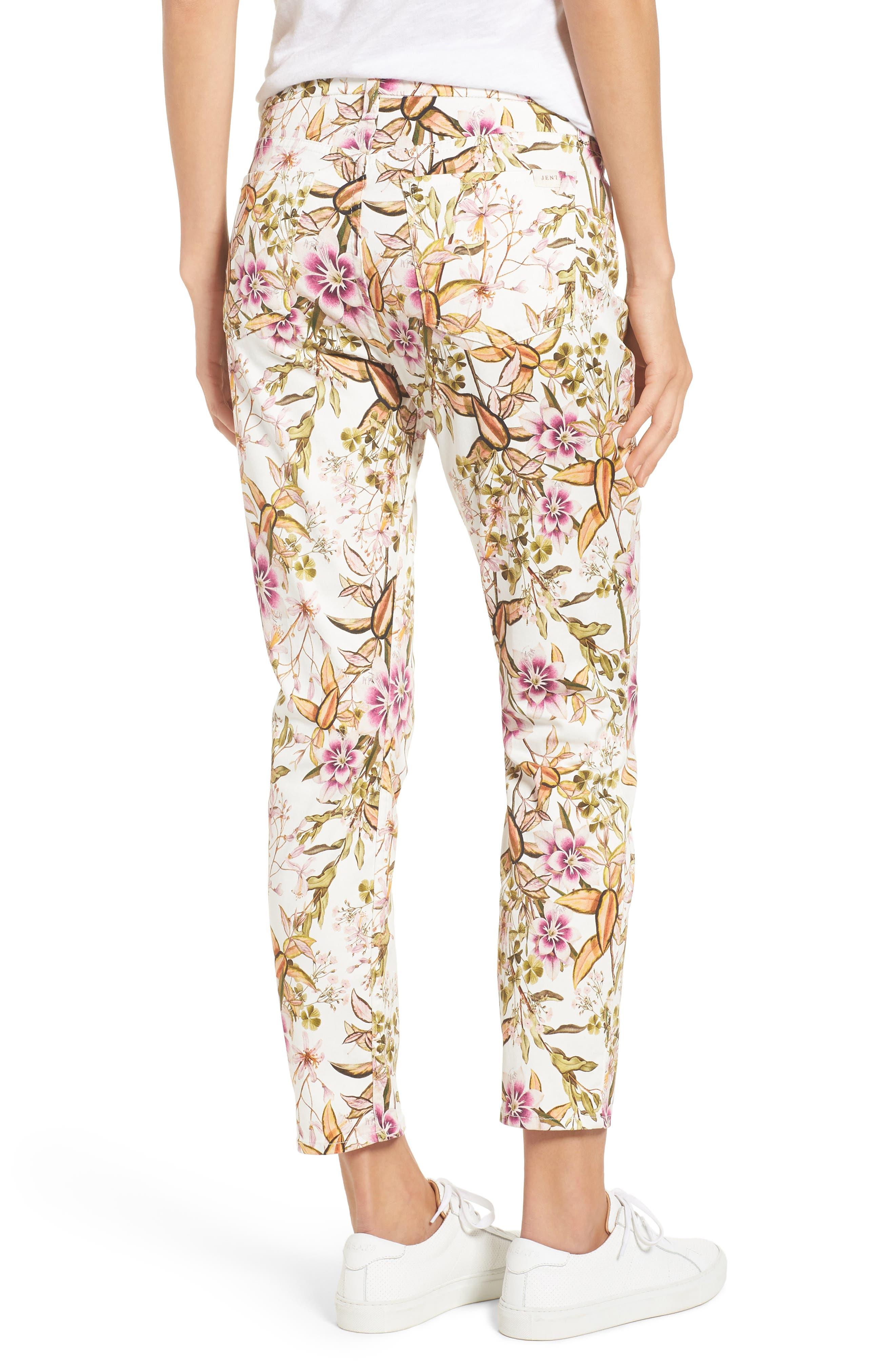 Floral Print Ankle Skinny Jeans,                             Alternate thumbnail 2, color,                             HAVANA TROPICS