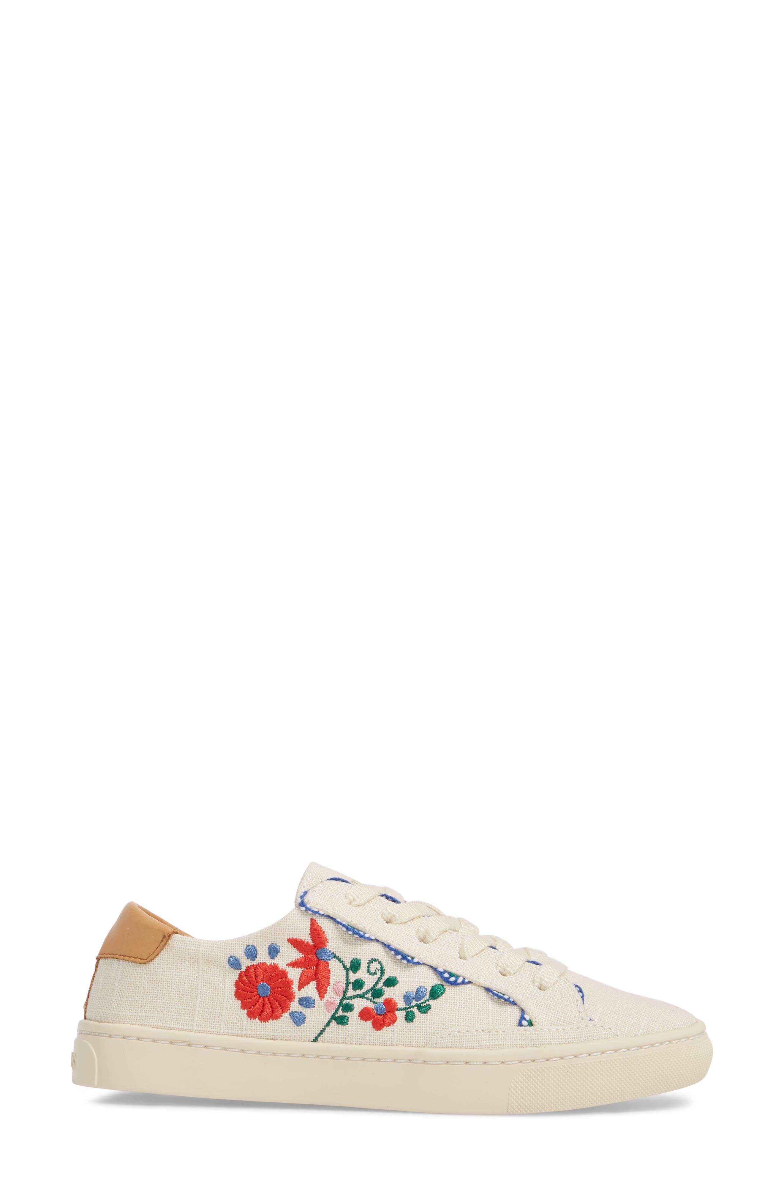 Ibiza Embroidered Sneaker,                             Alternate thumbnail 3, color,                             680