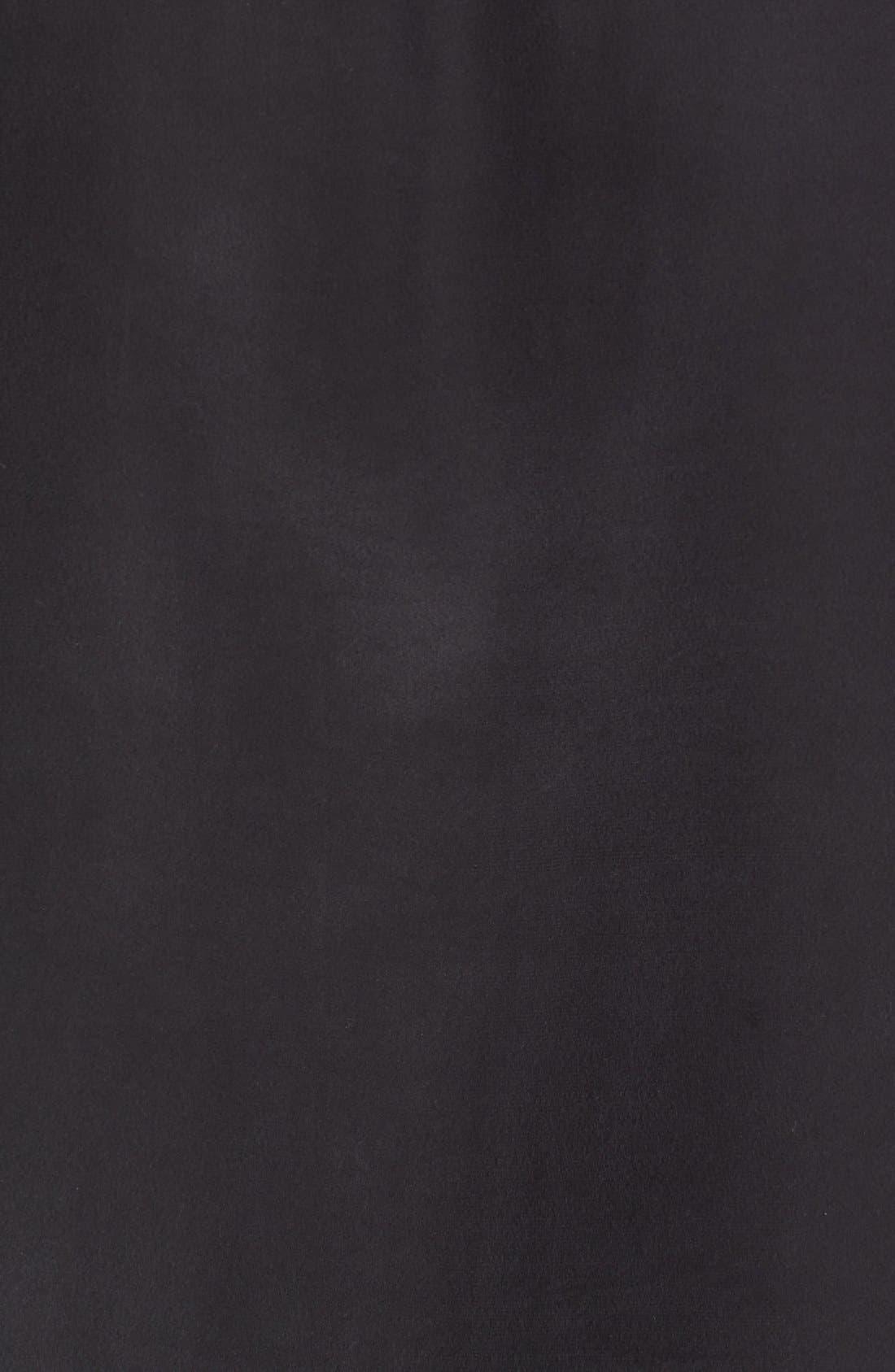 Lace-Up Silk Blouse,                             Alternate thumbnail 5, color,                             002