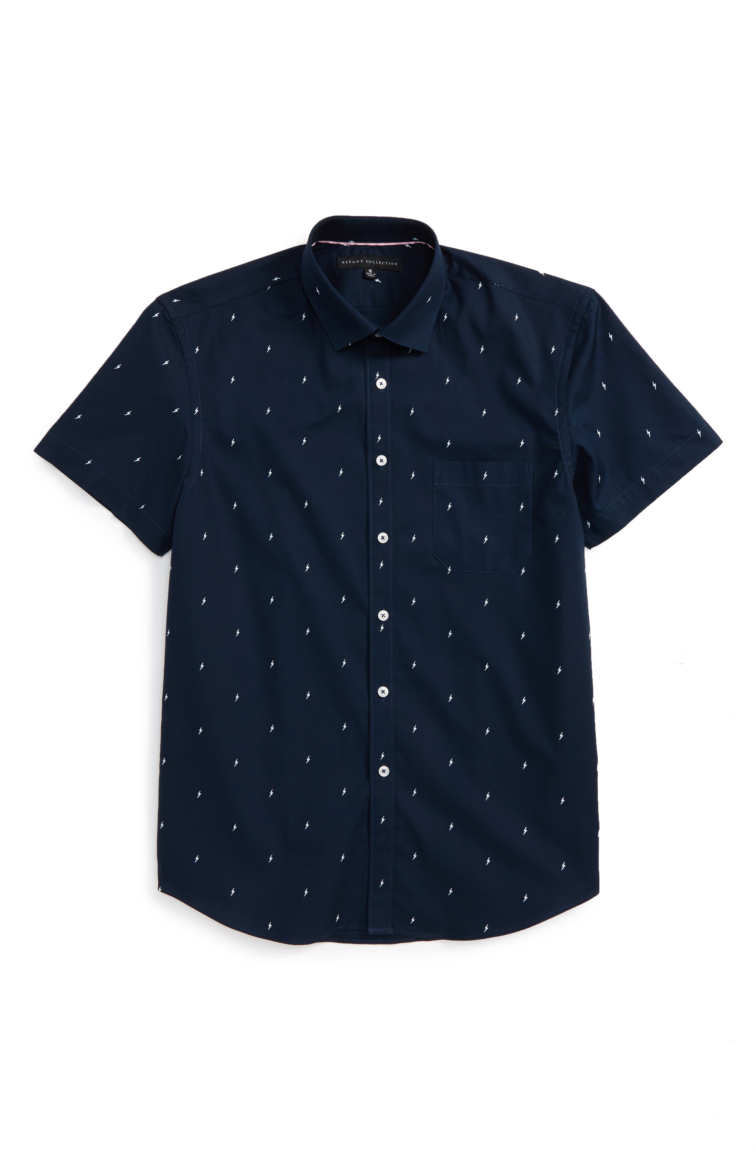 Lightning Bolt Dress Shirt,                         Main,                         color, 411