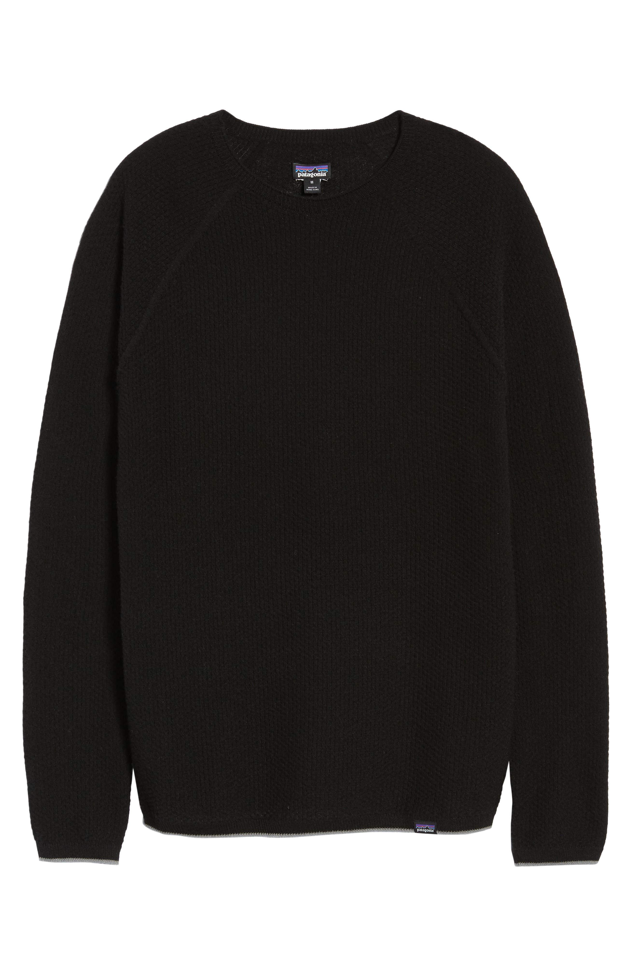 Capilene<sup>®</sup> Lightweight Air Crew Sweater,                             Alternate thumbnail 6, color,                             BLACK