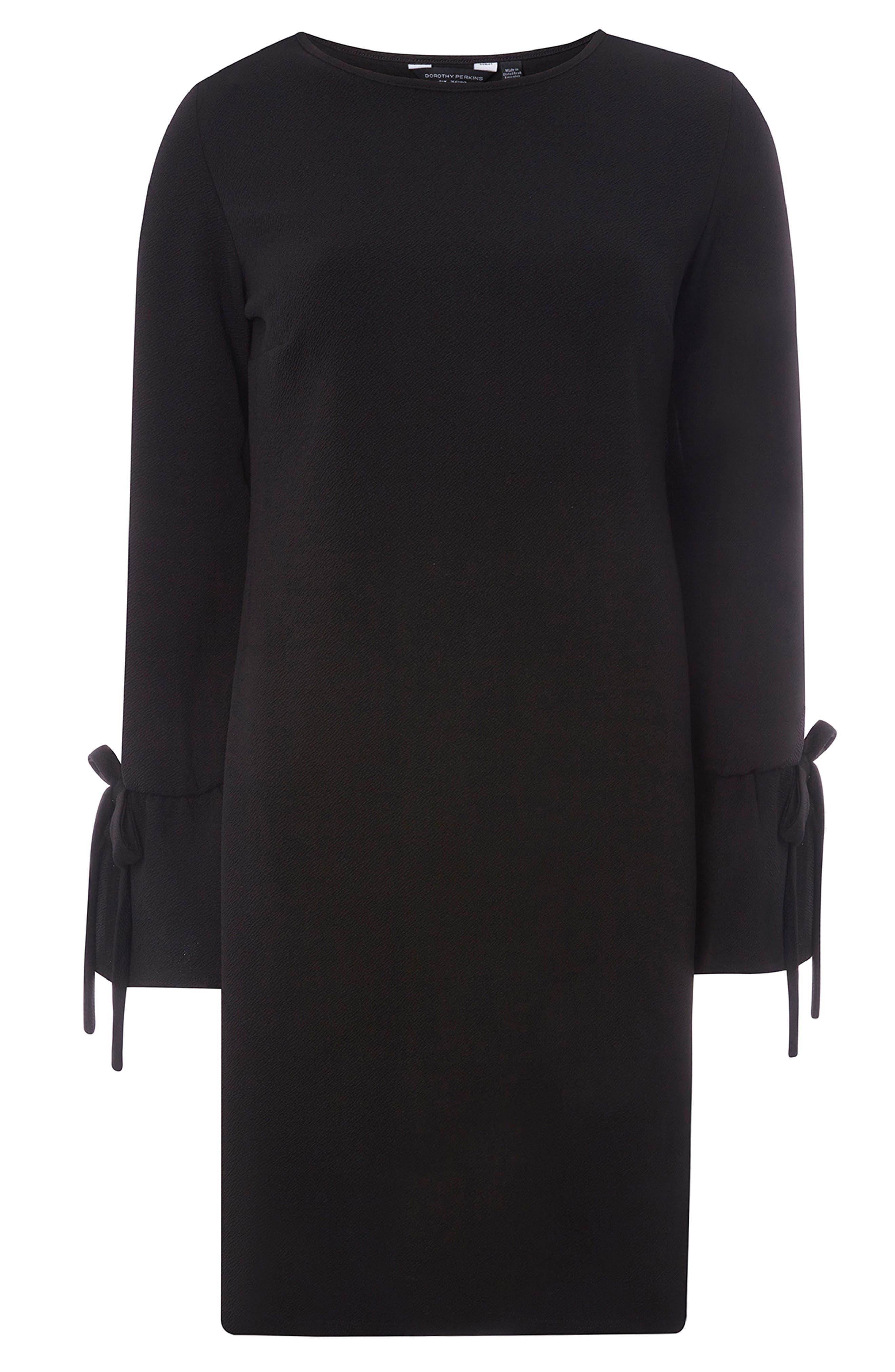 Tie Sleeve Shift Dress,                             Alternate thumbnail 5, color,