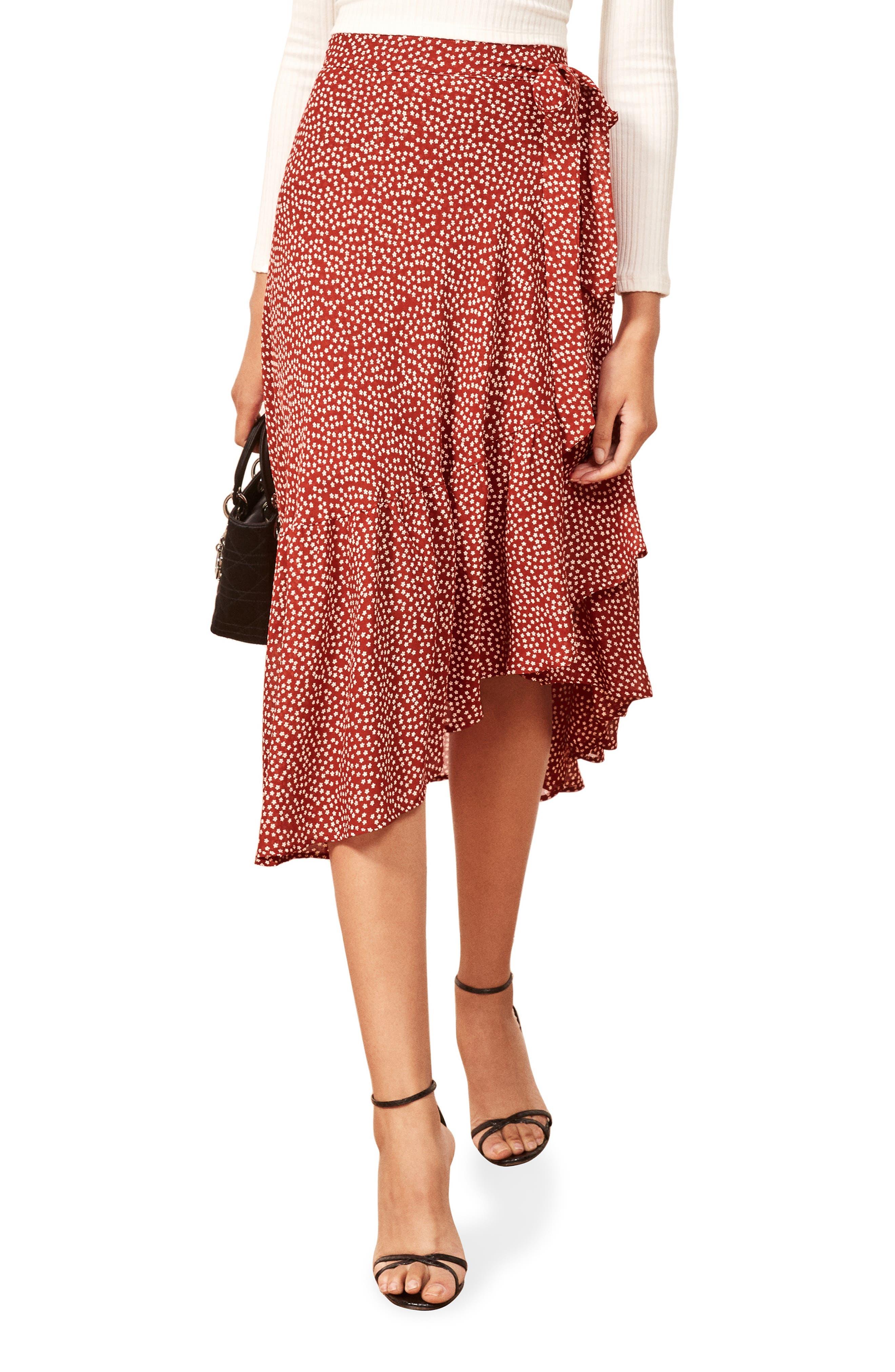Annaliese Wrap Skirt,                         Main,                         color, DAKOTA