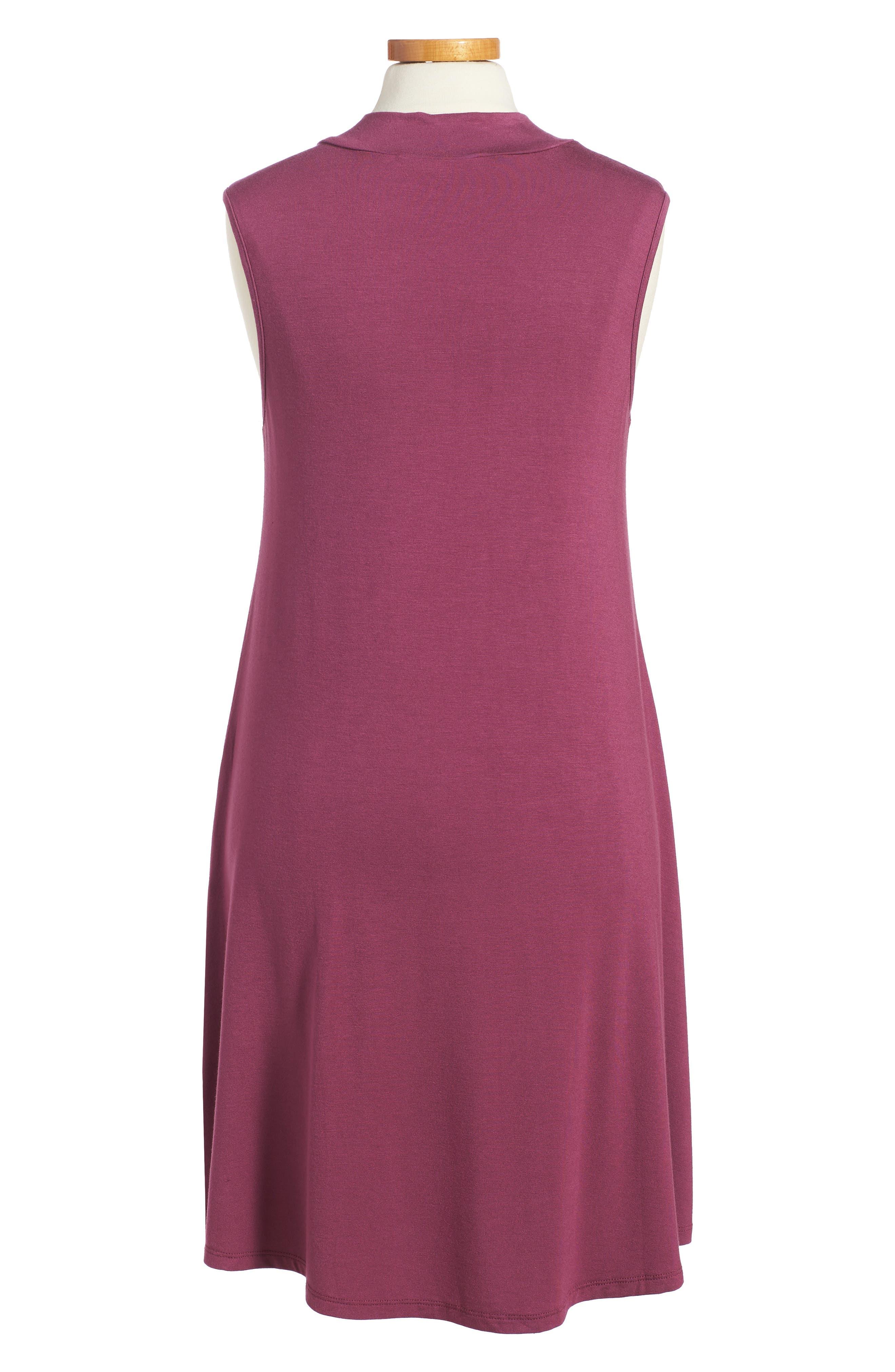 Phyllis Stripe Mock Neck Dress,                             Alternate thumbnail 6, color,