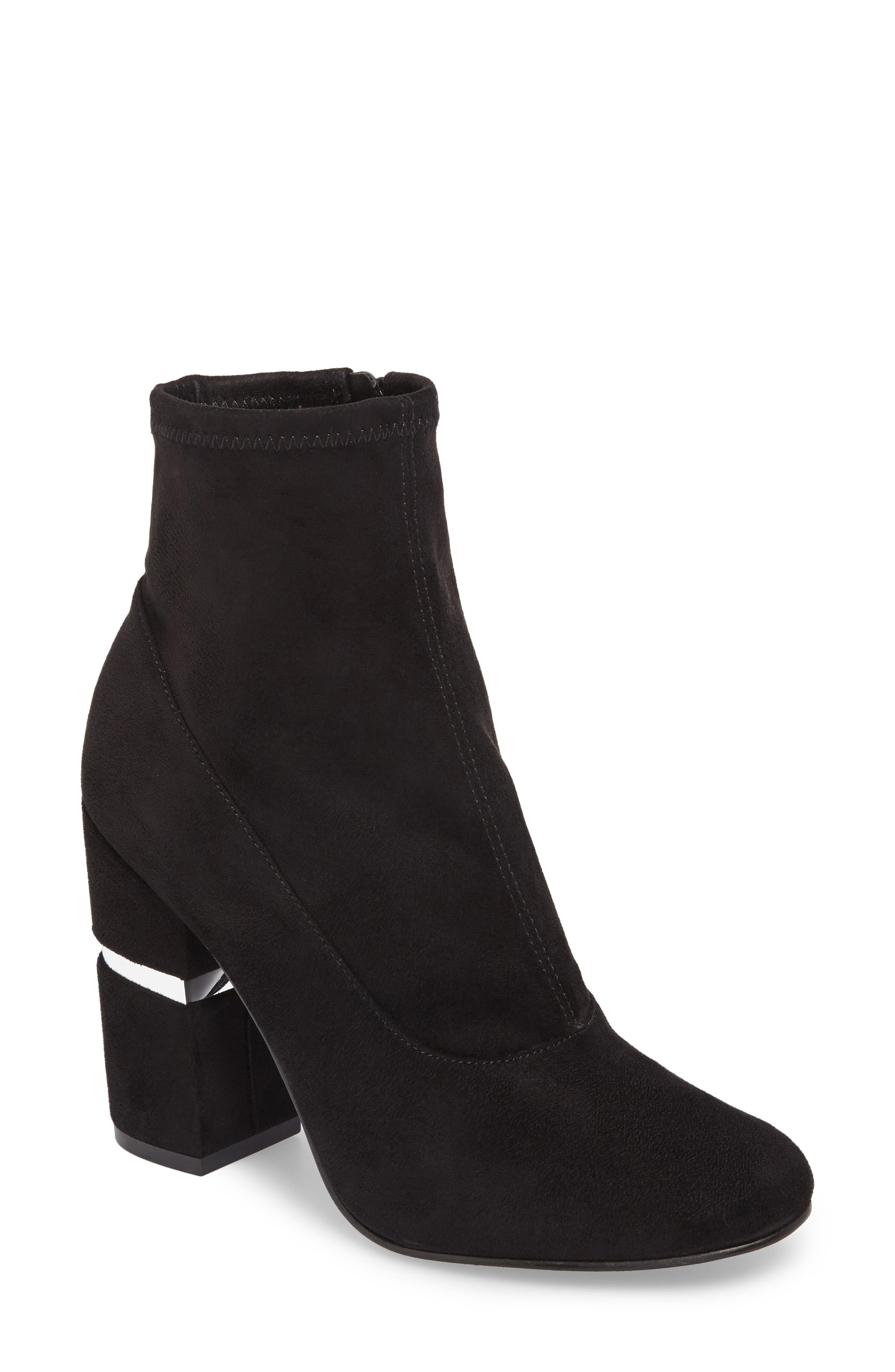 Padda Embellished Stretch Bootie,                             Main thumbnail 1, color,                             001