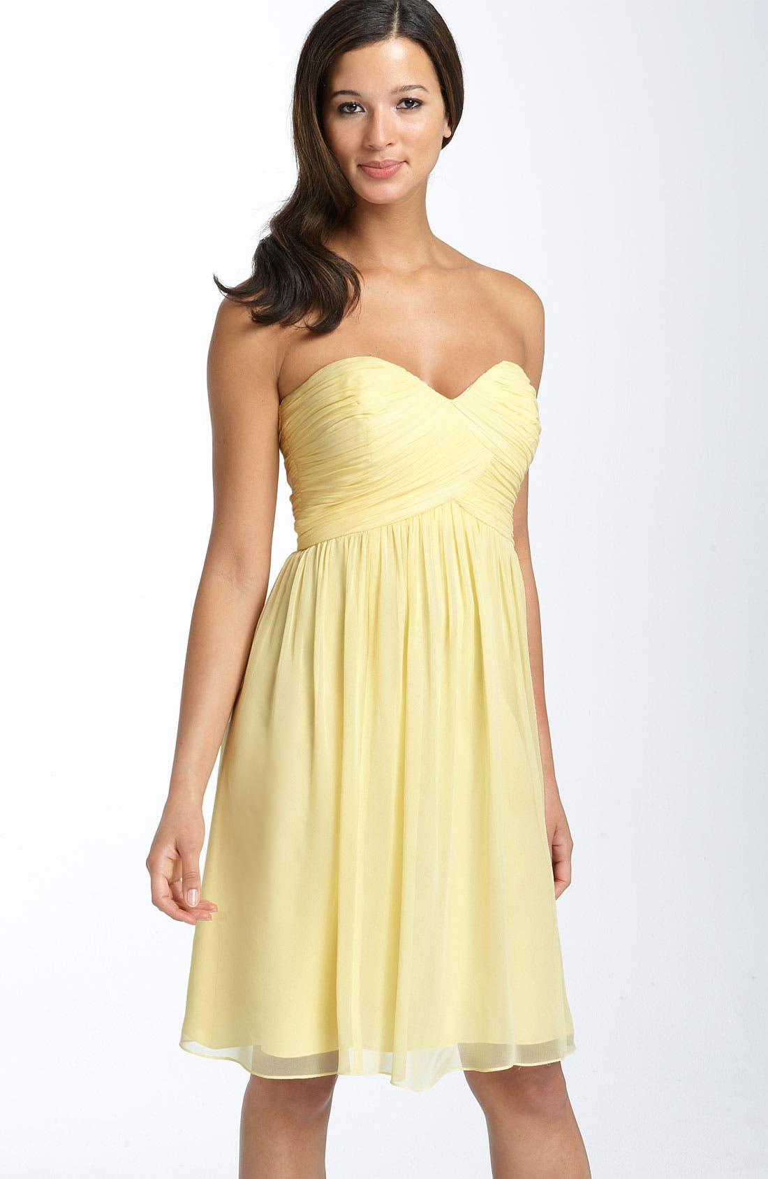 'Morgan' Strapless Silk Chiffon Dress,                             Main thumbnail 38, color,
