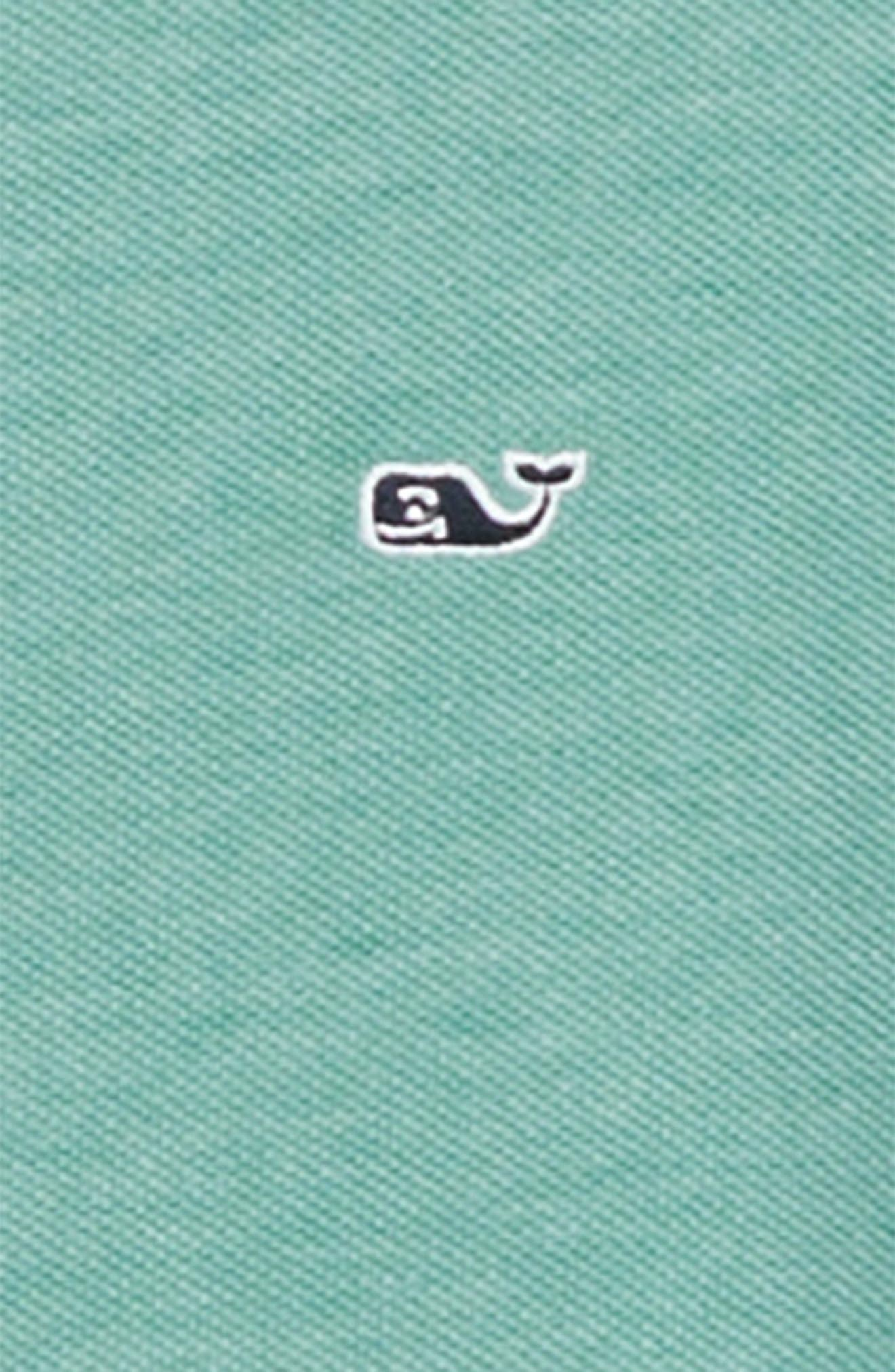 Stretch Piqué Polo,                             Alternate thumbnail 2, color,                             CARIBBEAN GREEN