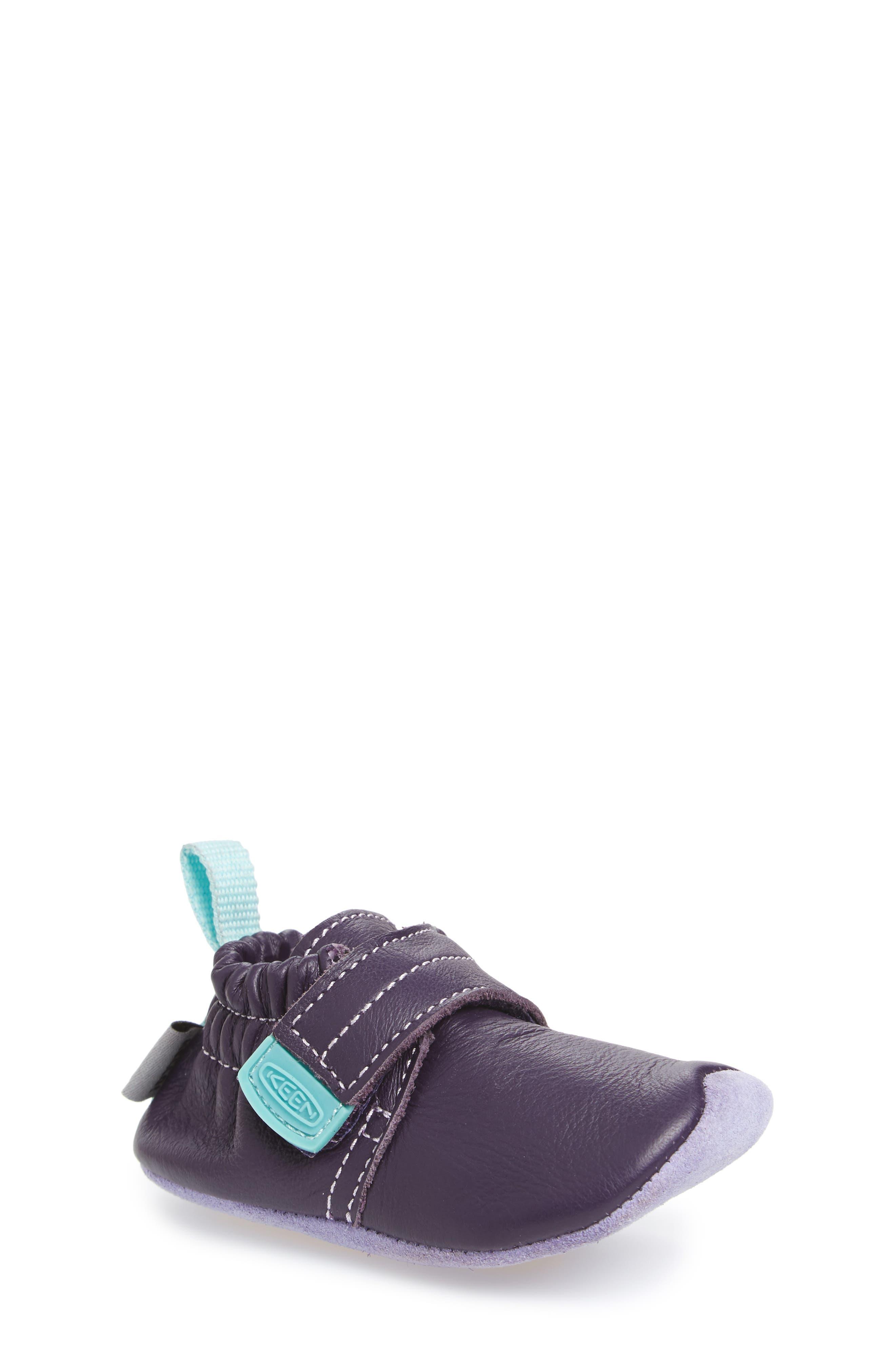 Leo Crib Shoe,                             Main thumbnail 1, color,                             PURPLE / SWEET LAVENDER