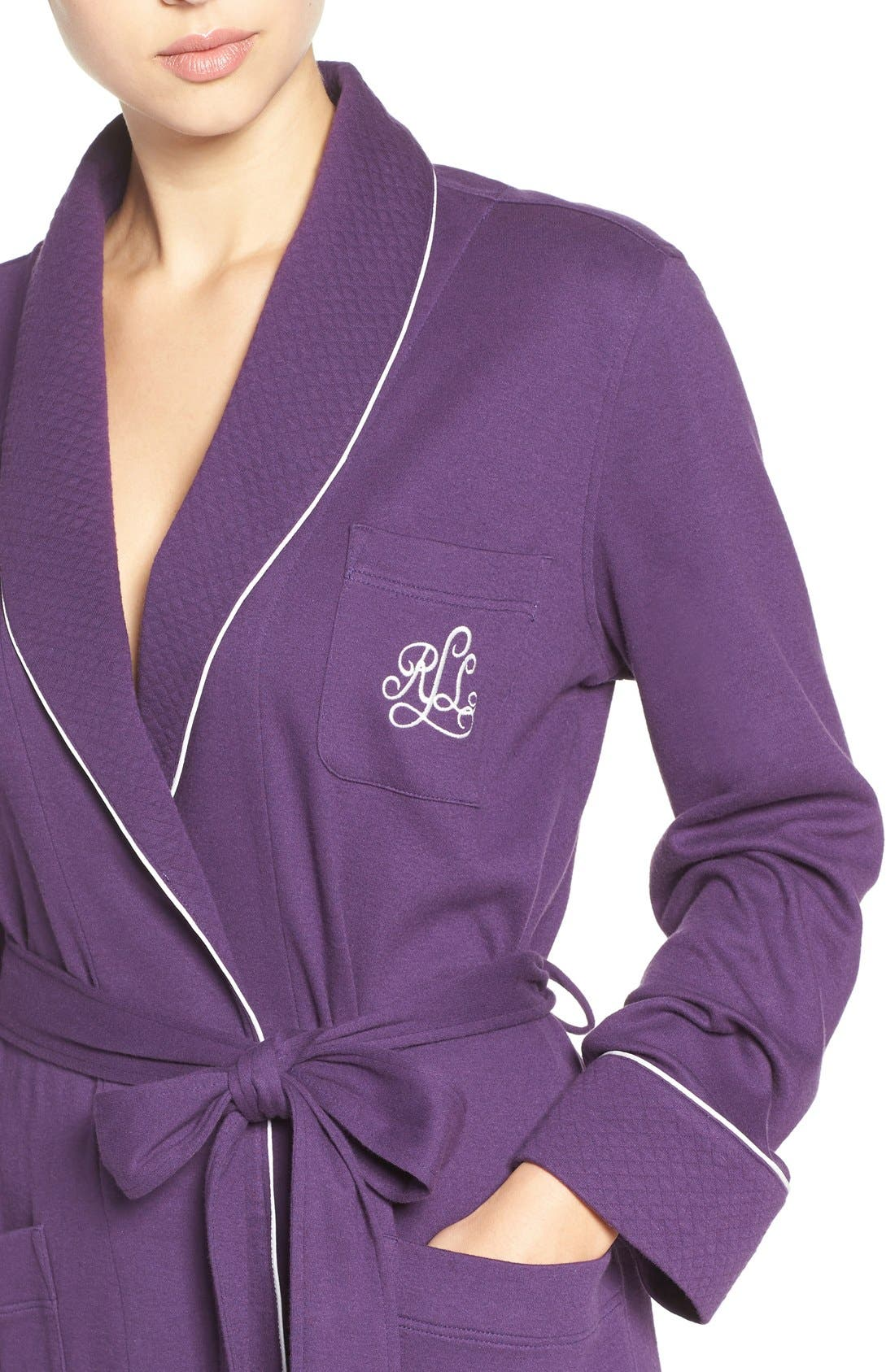 Quilted Collar Robe,                             Alternate thumbnail 64, color,