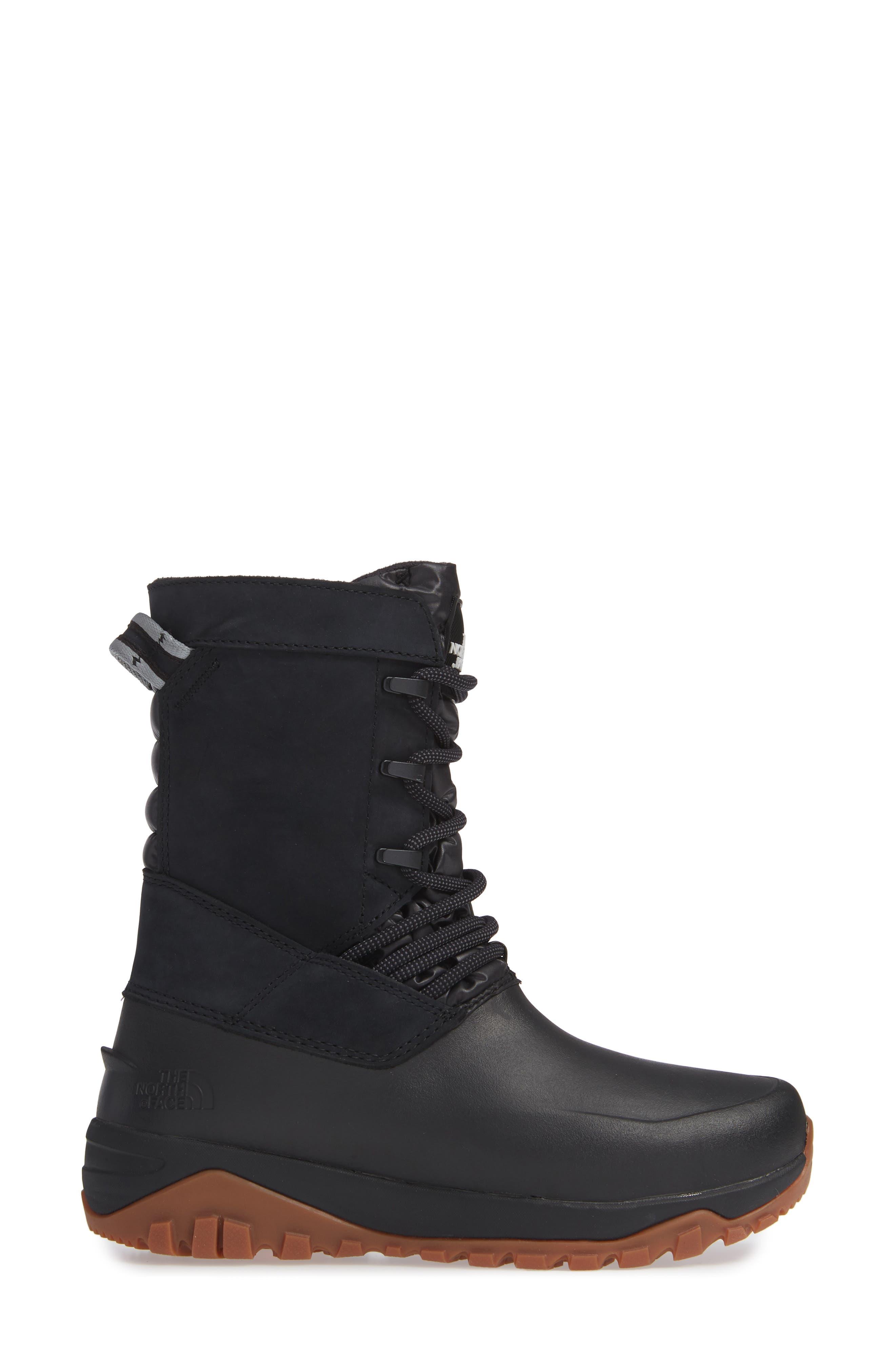 Yukiona Waterproof Winter Boot,                             Alternate thumbnail 3, color,                             BLACK/ BLACK