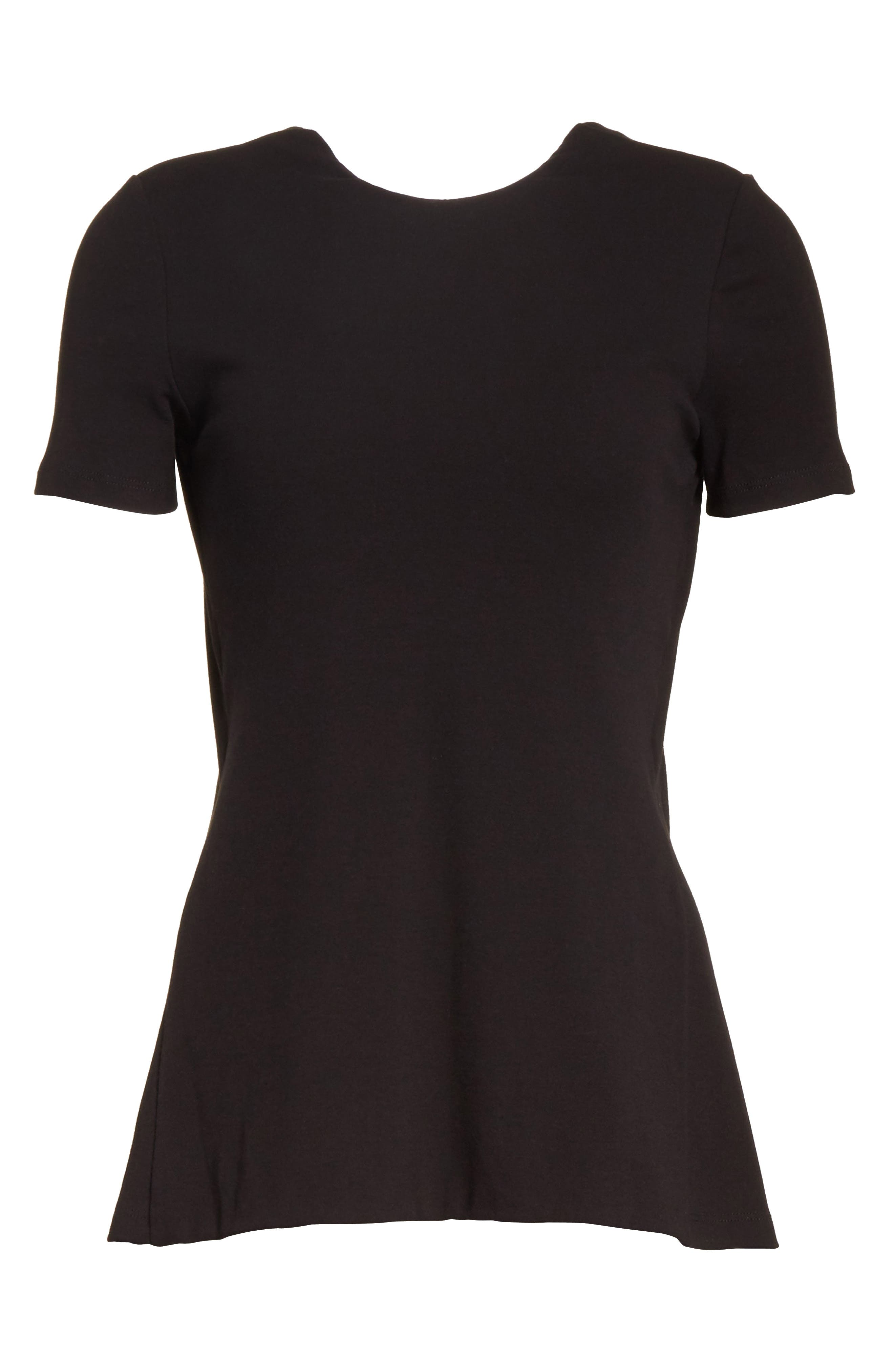 Cotton Jersey Open Back Tee,                             Alternate thumbnail 6, color,                             001