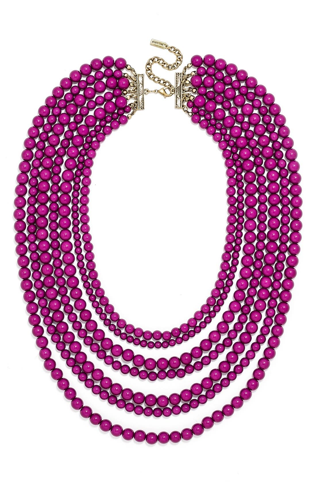 'Bold' Multistrand Beaded Statement Necklace,                             Main thumbnail 8, color,