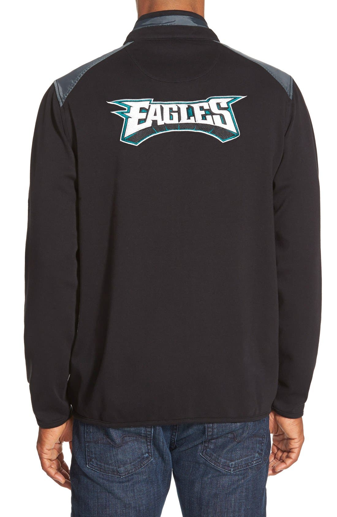 TOMMY BAHAMA,                             'Goal Line - Baltimore Ravens' NFL Full Zip Jacket,                             Alternate thumbnail 3, color,                             001