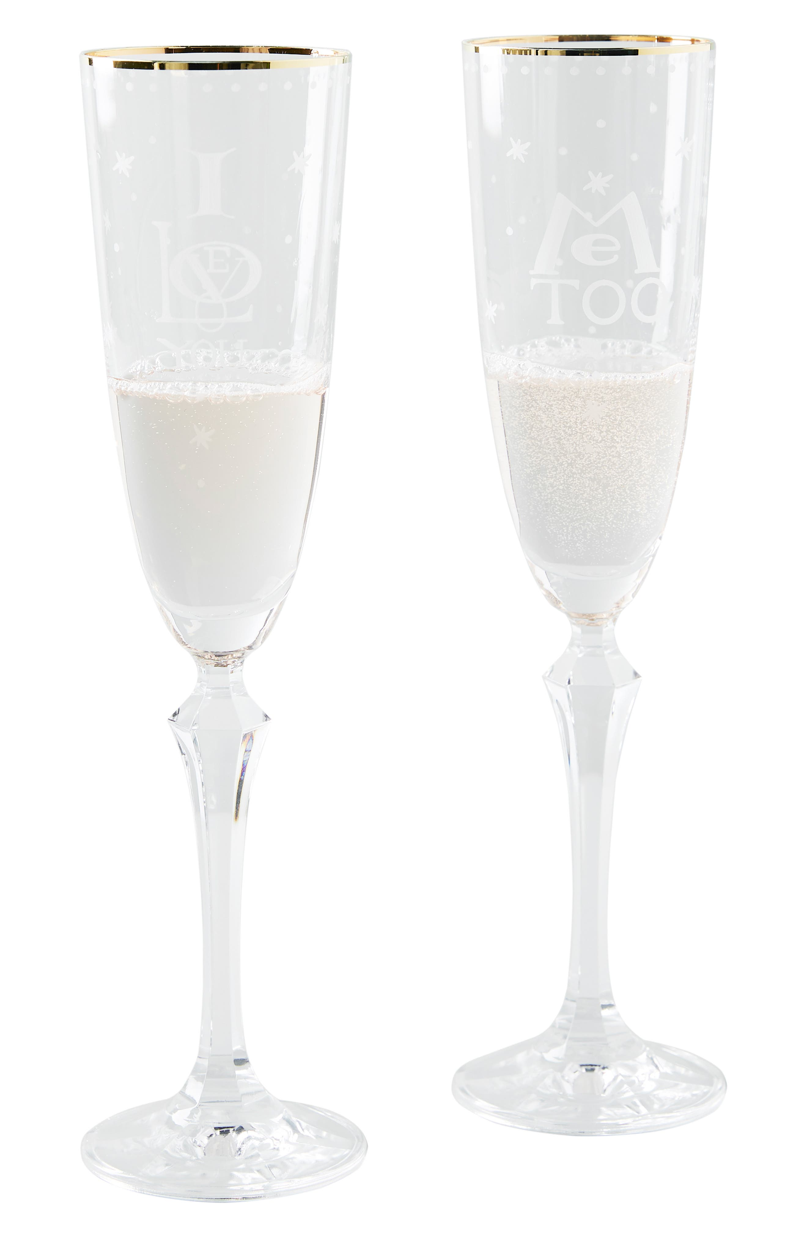 ANTHROPOLOGIE,                             Sybille Set of 2 Flutes,                             Alternate thumbnail 3, color,                             CLEAR
