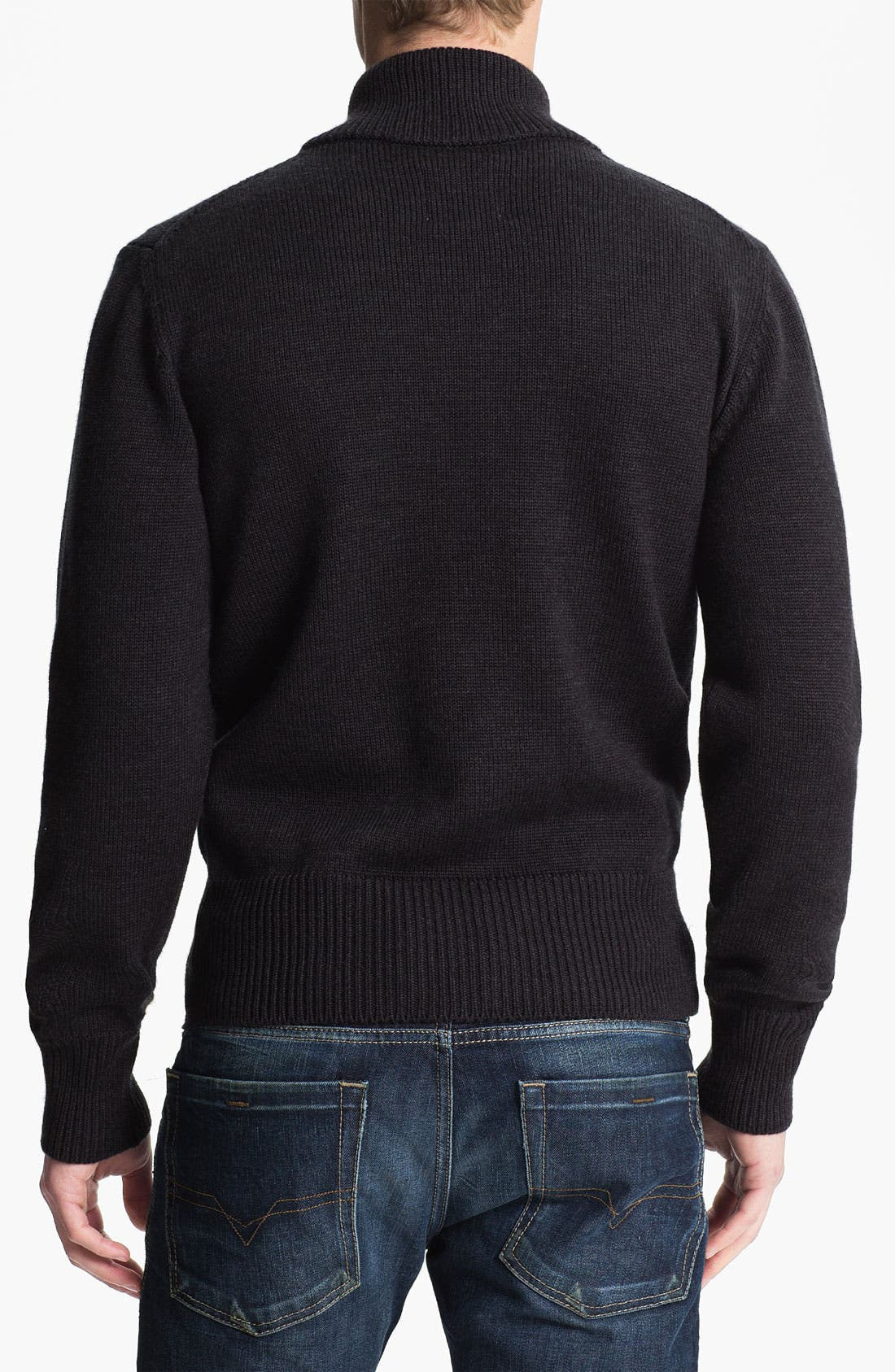 Mock Neck Merino Wool Sweater,                             Alternate thumbnail 2, color,                             010