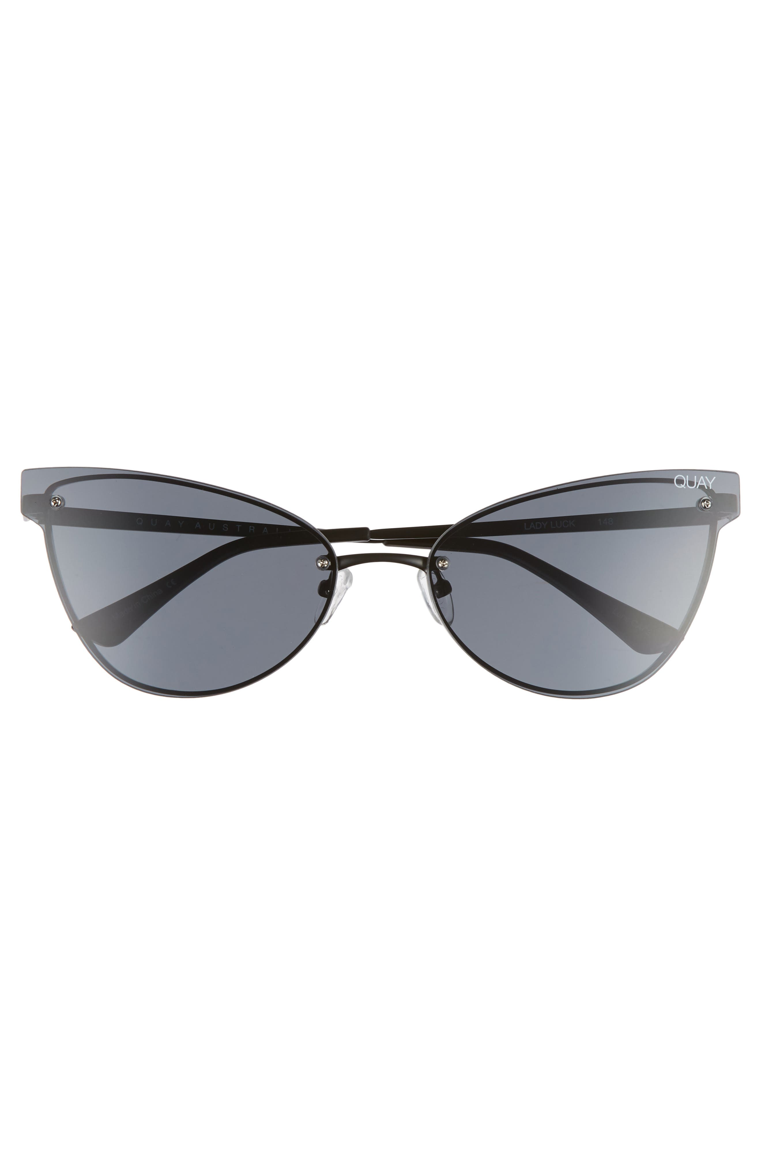 Lady Luck 60mm Cat Eye Sunglasses,                             Alternate thumbnail 3, color,                             001