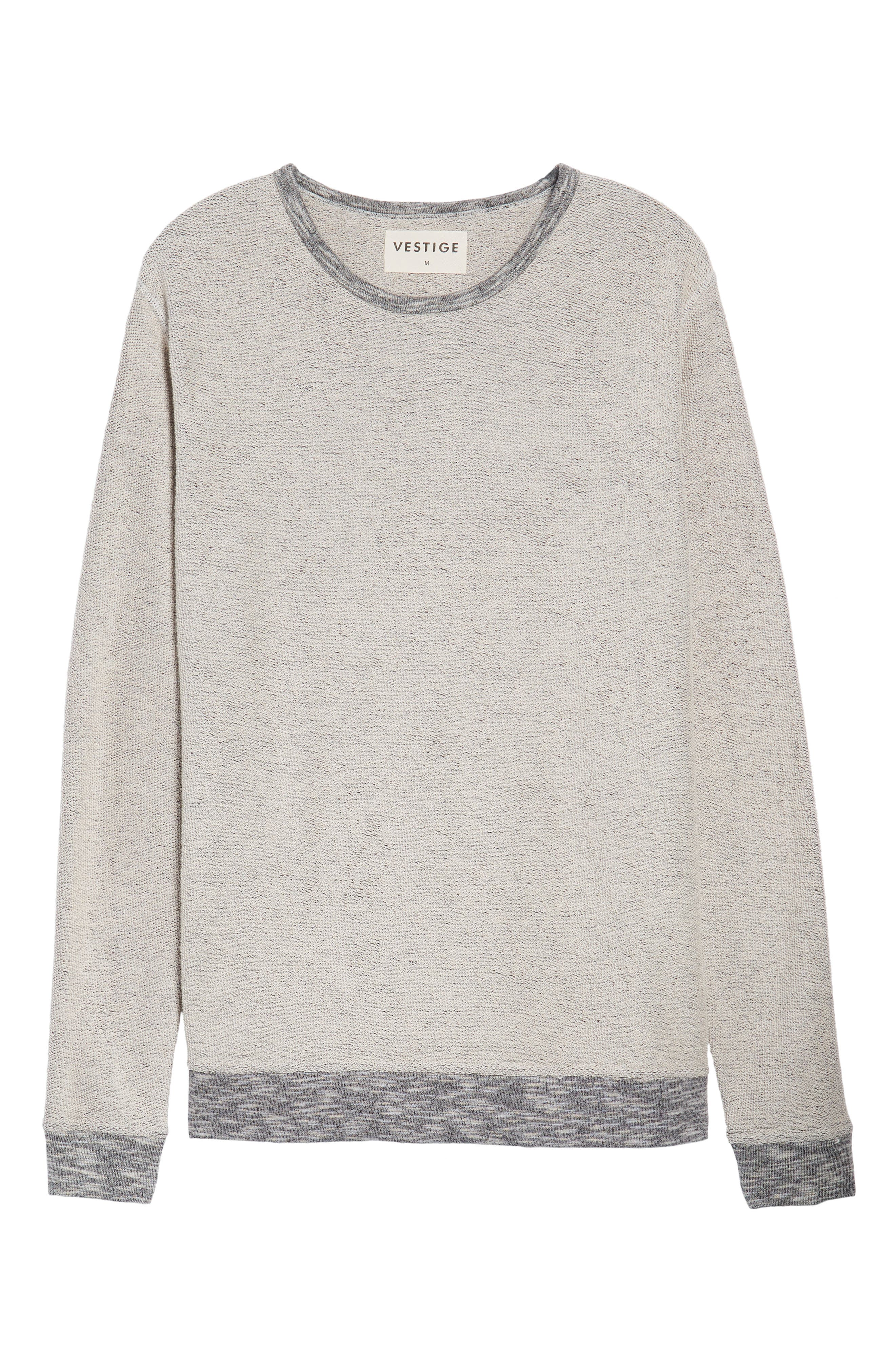 Reverse French Terry Sweatshirt,                             Alternate thumbnail 6, color,