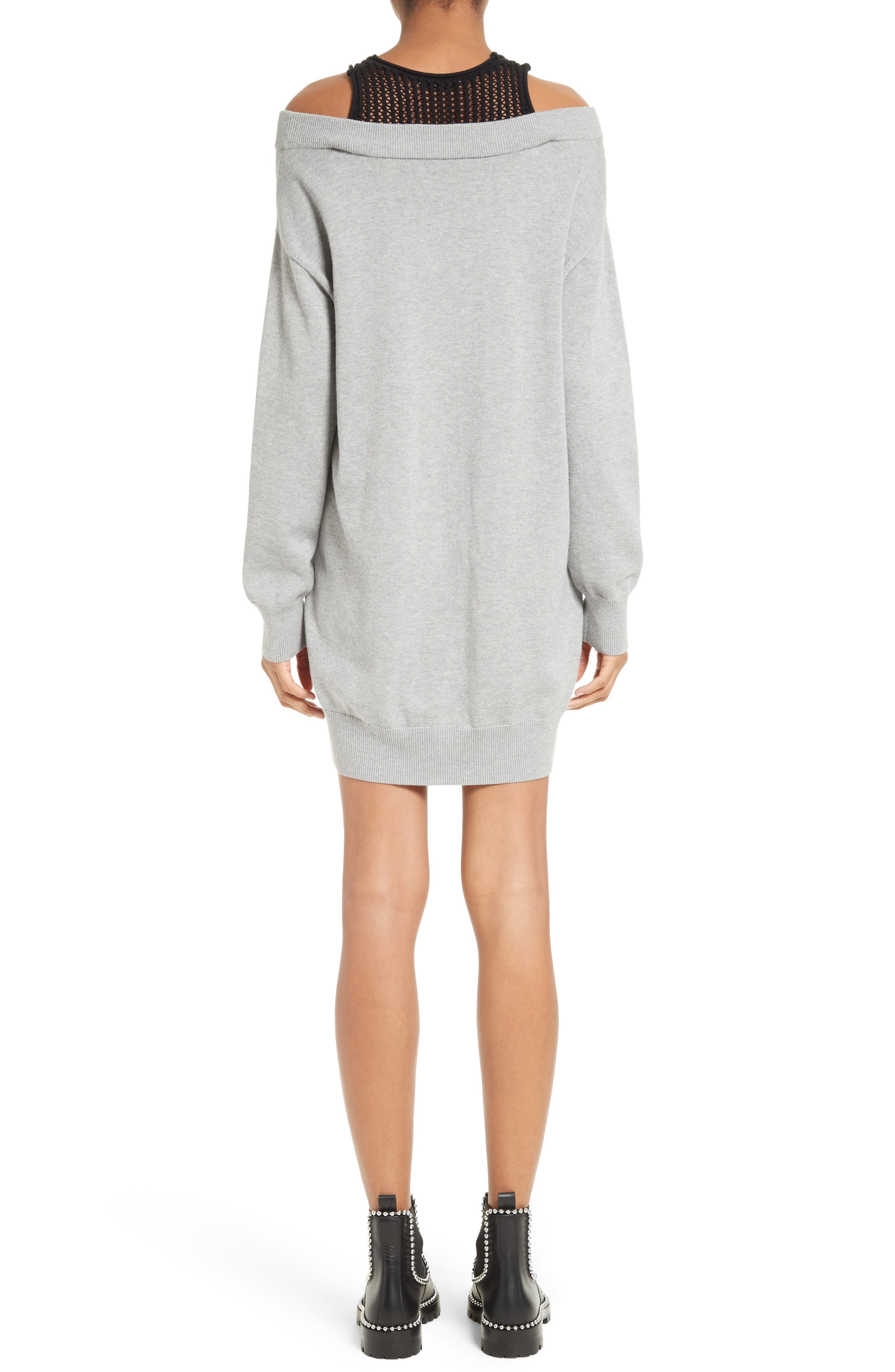 Knit Sweater Dress with Inner Tank,                             Alternate thumbnail 2, color,