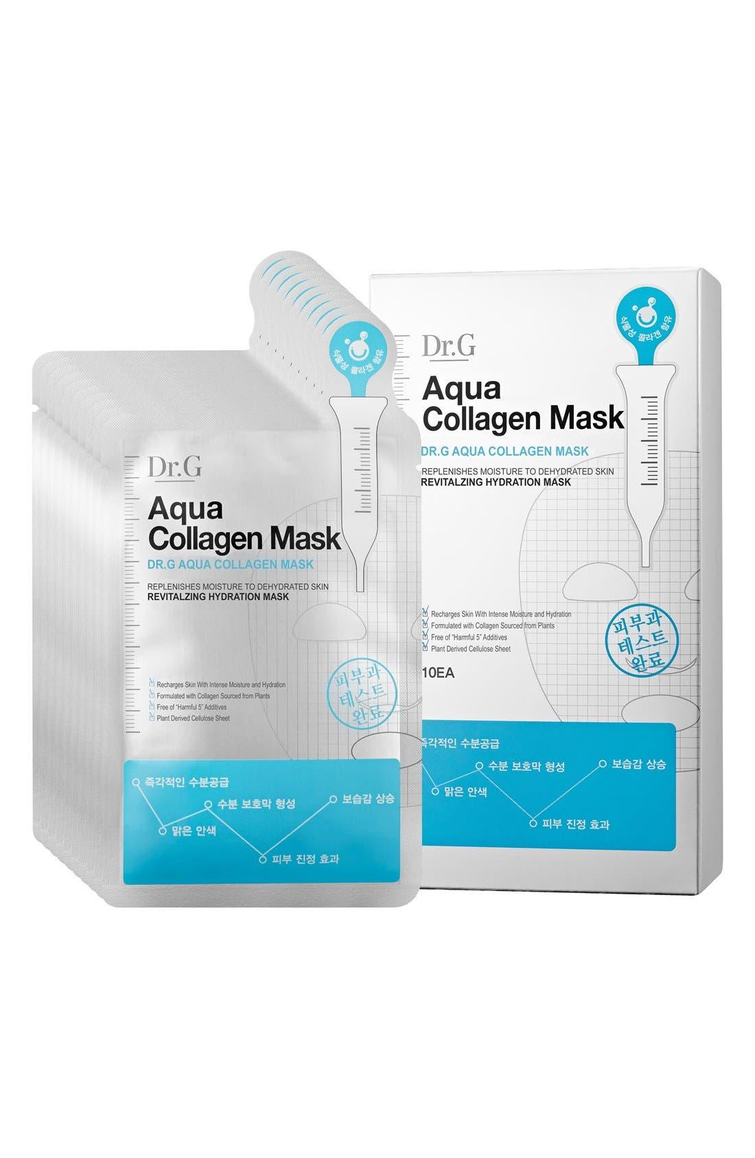 Aqua Collagen Mask,                             Main thumbnail 1, color,