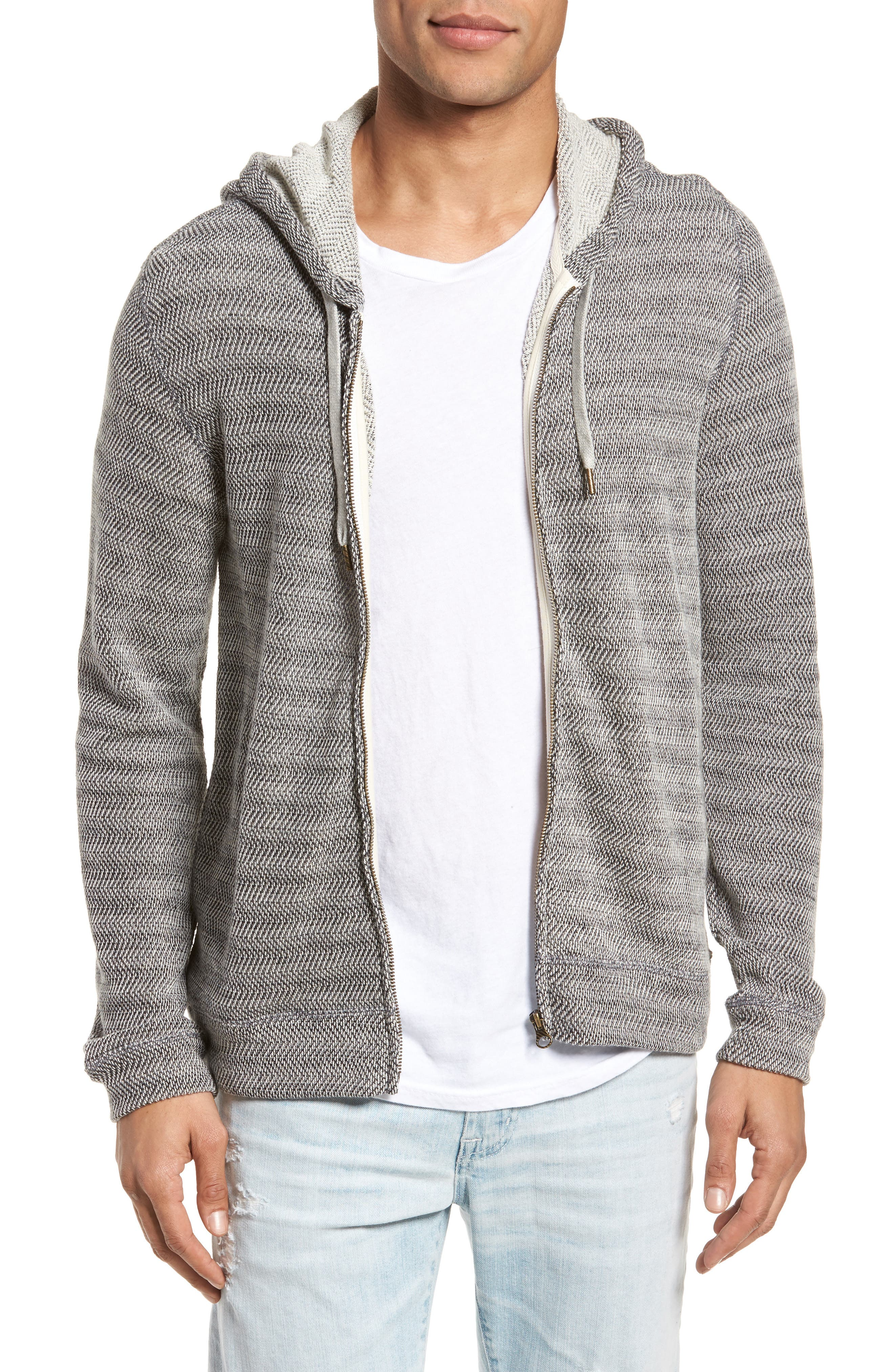 Herringbone Hoodie,                             Main thumbnail 1, color,                             010
