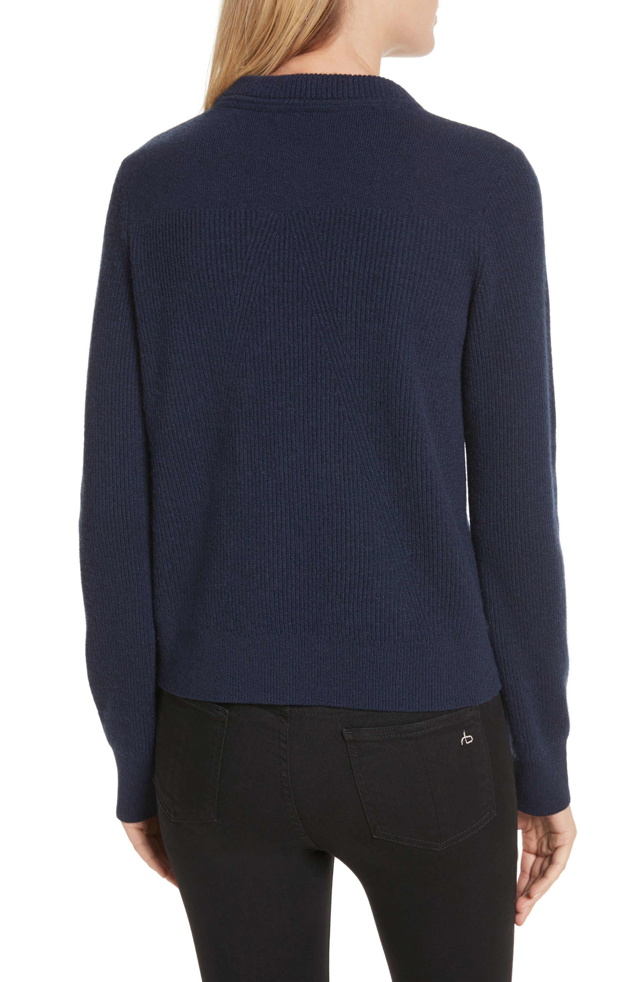 Ace Cashmere Crop Sweater,                             Alternate thumbnail 2, color,                             410
