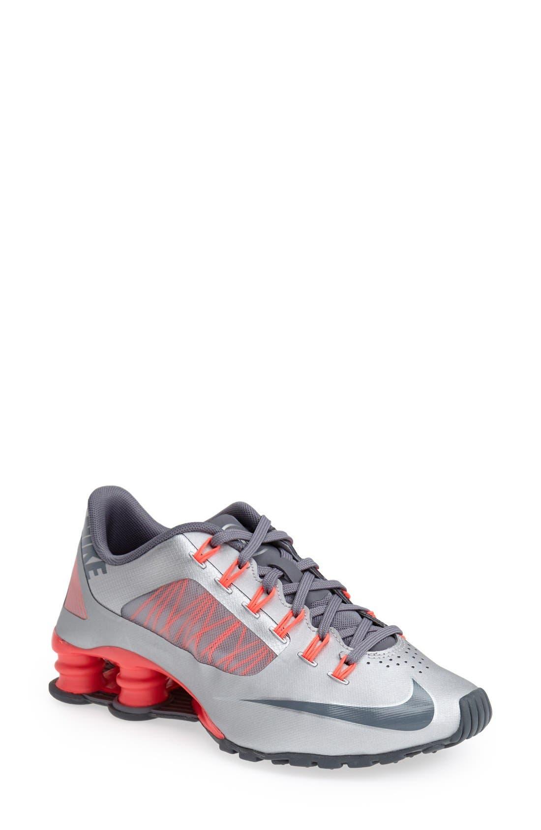 'Shox Superfly R4' Running Shoe,                             Main thumbnail 1, color,                             020