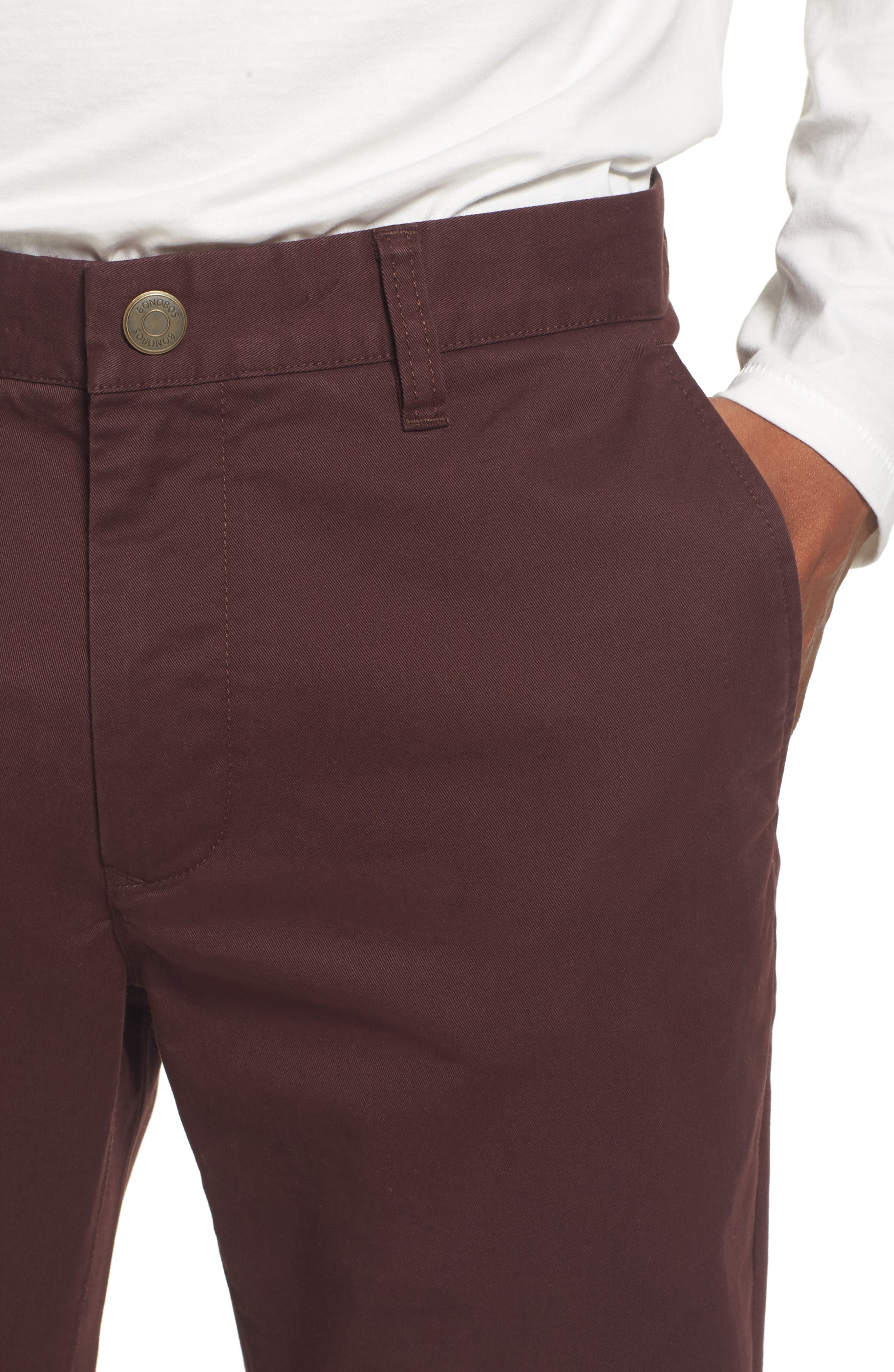 Tailored Fit Washed Stretch Cotton Chinos,                             Alternate thumbnail 128, color,
