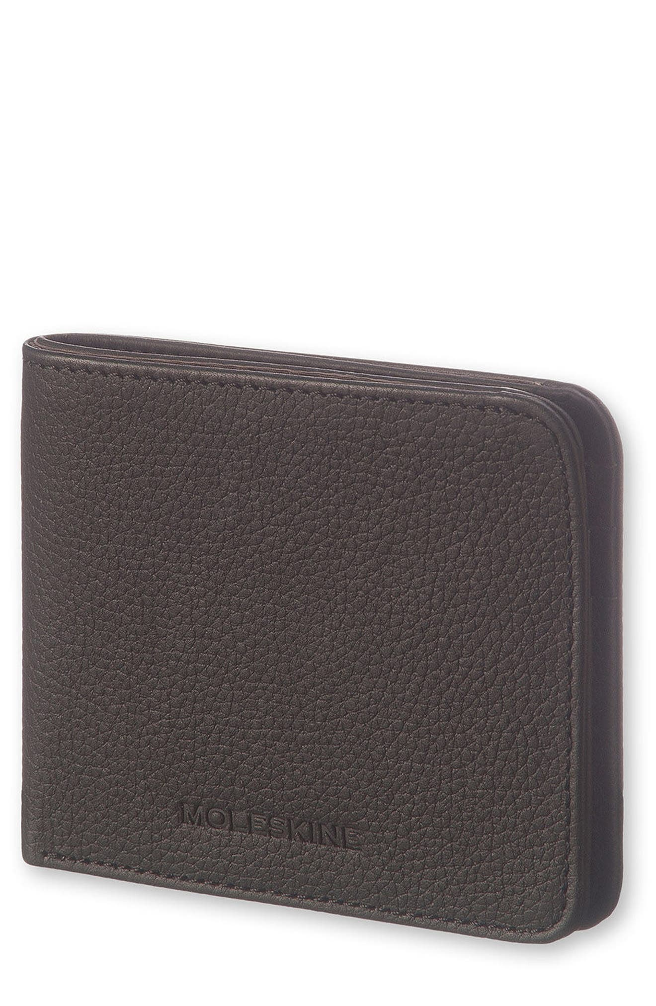 Lineage Leather Wallet,                             Main thumbnail 1, color,                             BLACK