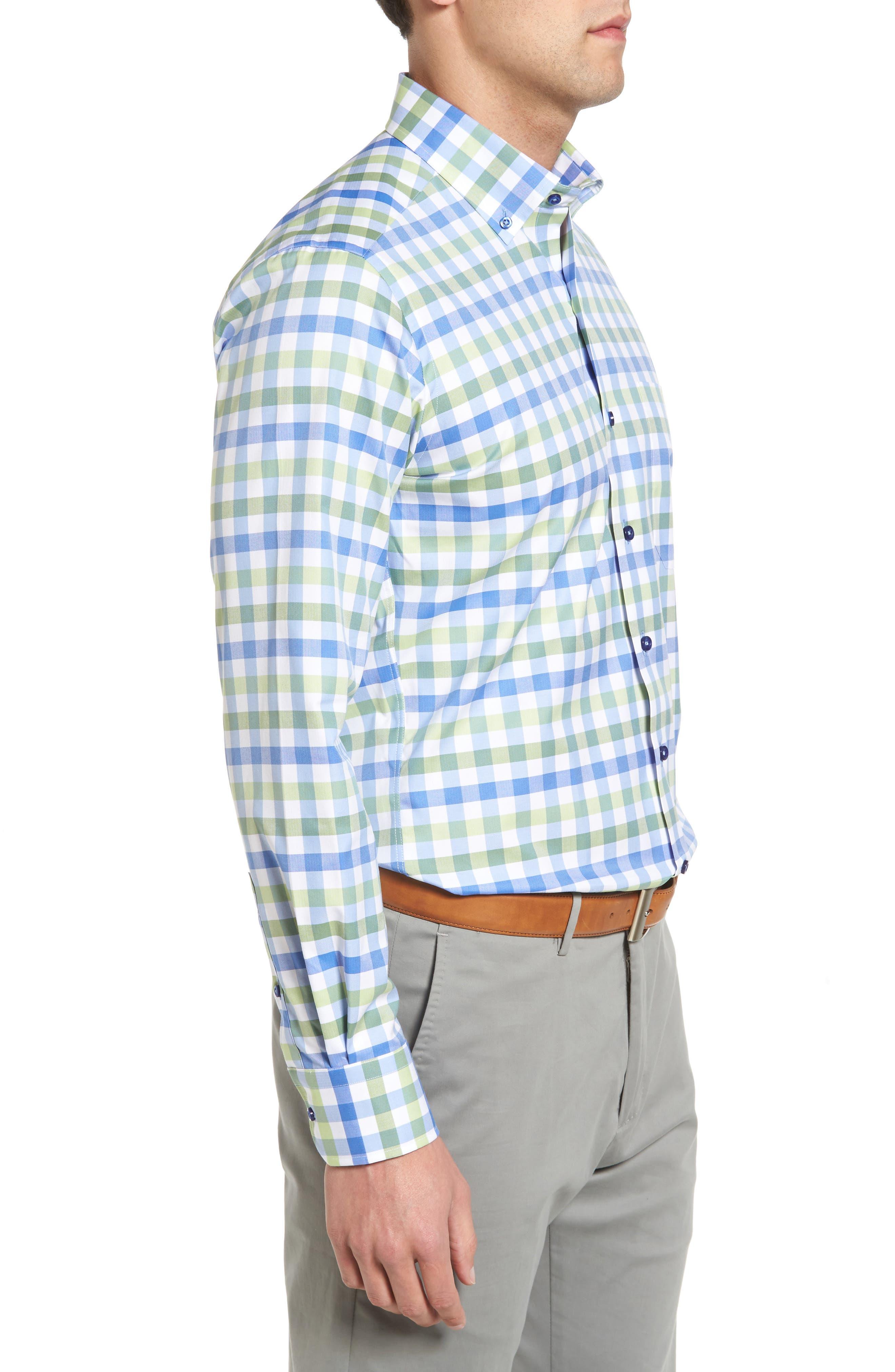 Regular Fit Check Sport Shirt,                             Alternate thumbnail 3, color,                             448