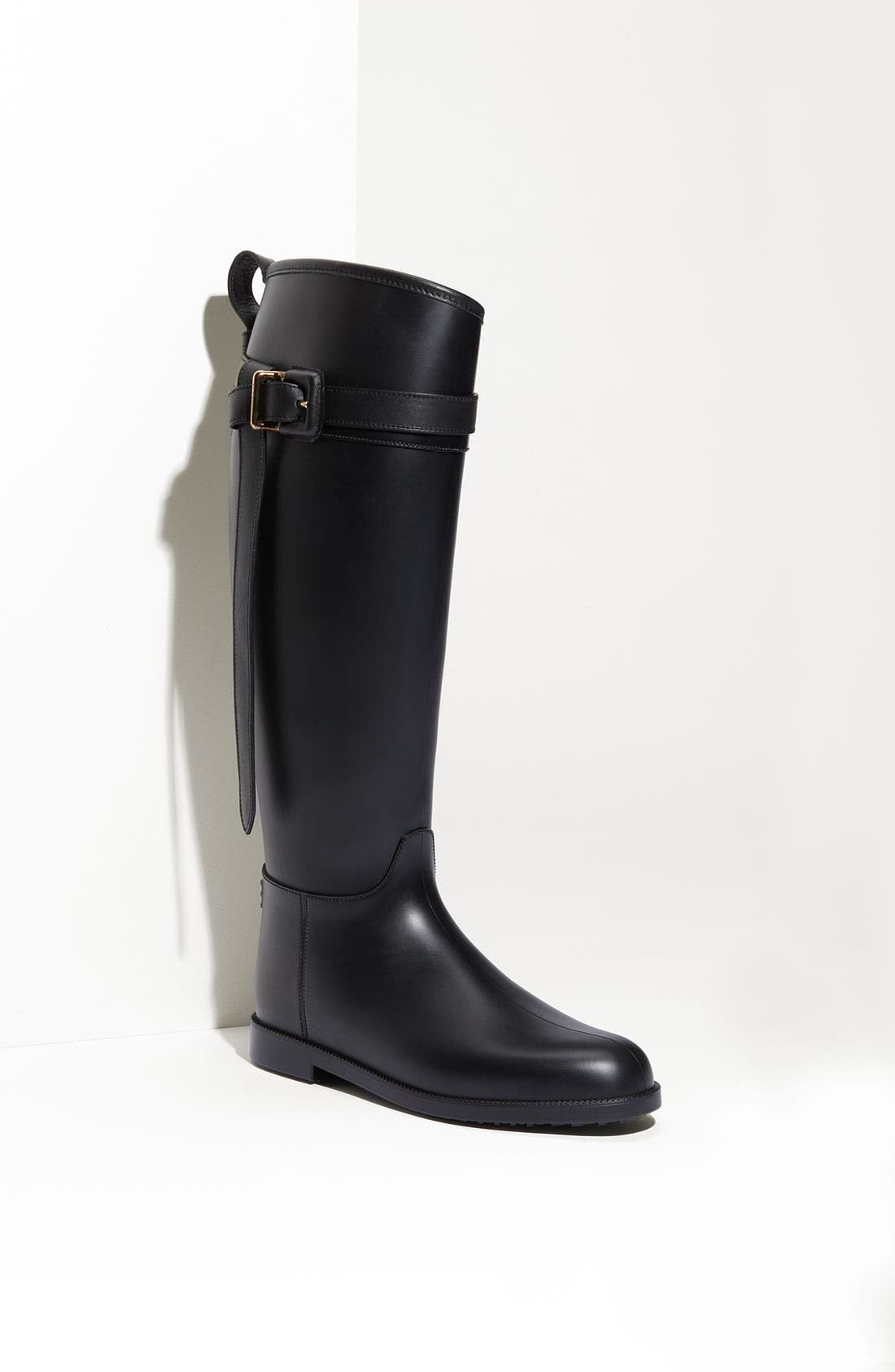 Rubber Riding Boot,                             Main thumbnail 1, color,                             001