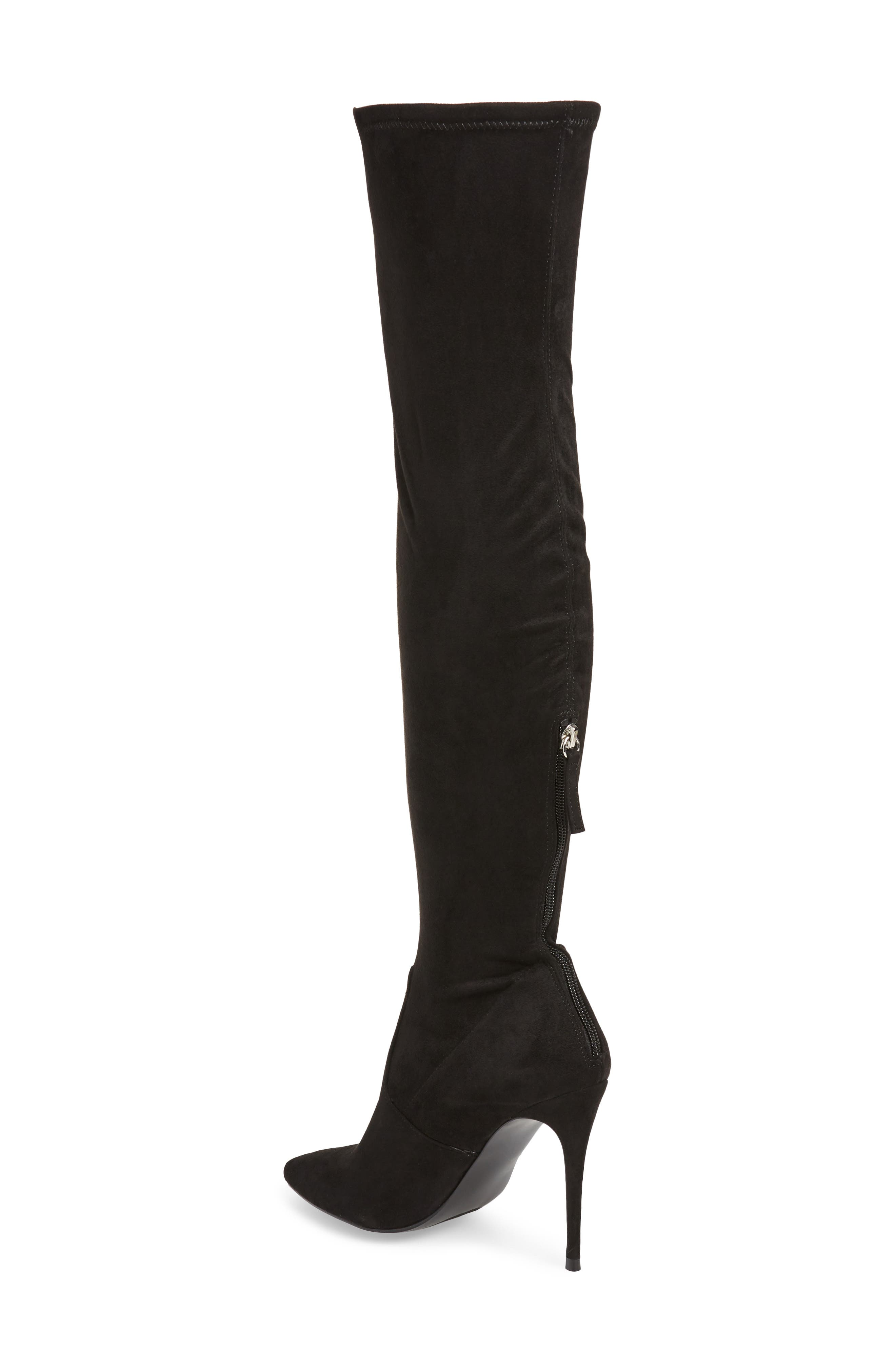 Devine Over the Knee Boot,                             Alternate thumbnail 2, color,                             BLACK SUEDE