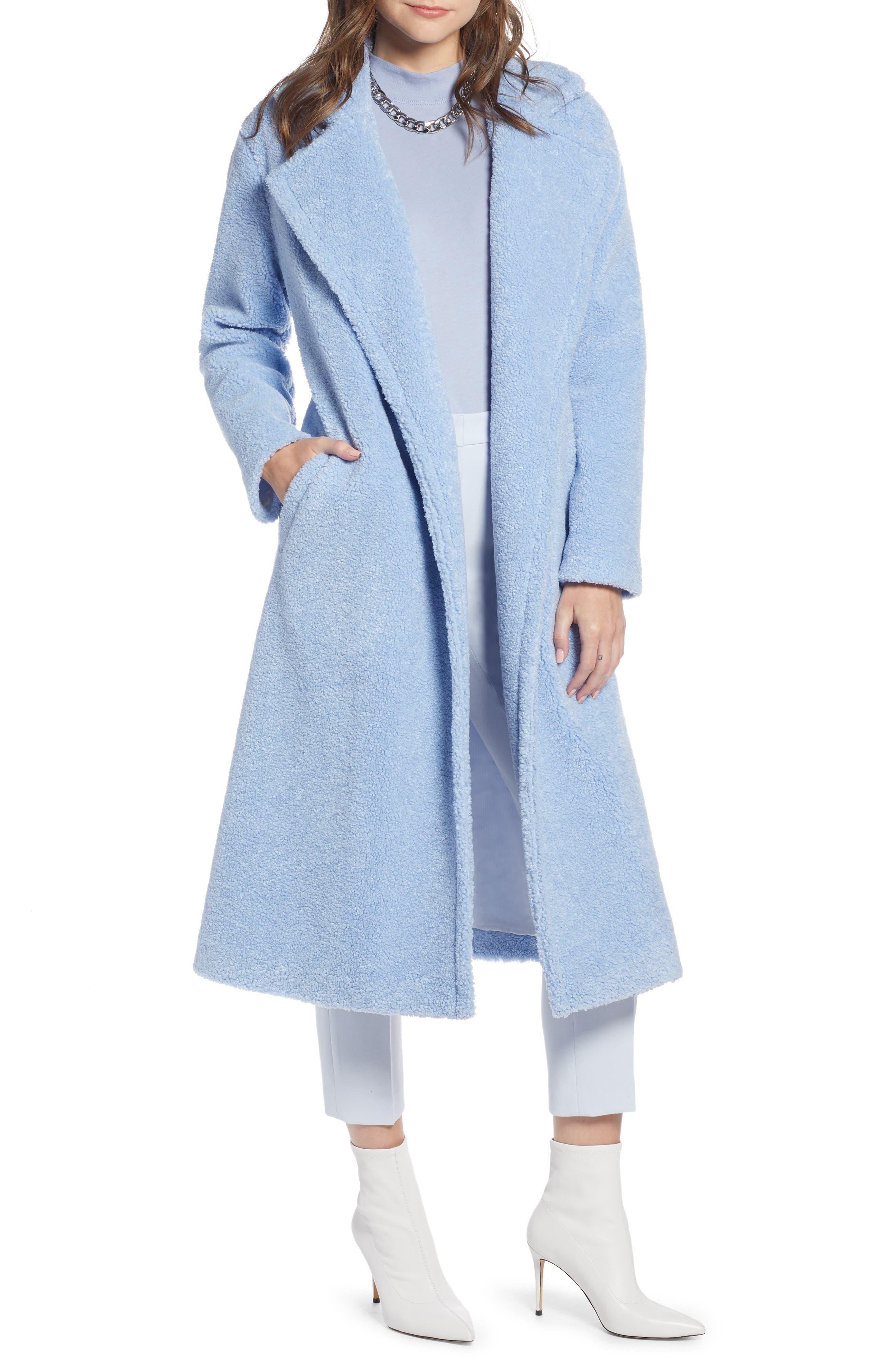 Something Navy Teddy Coat