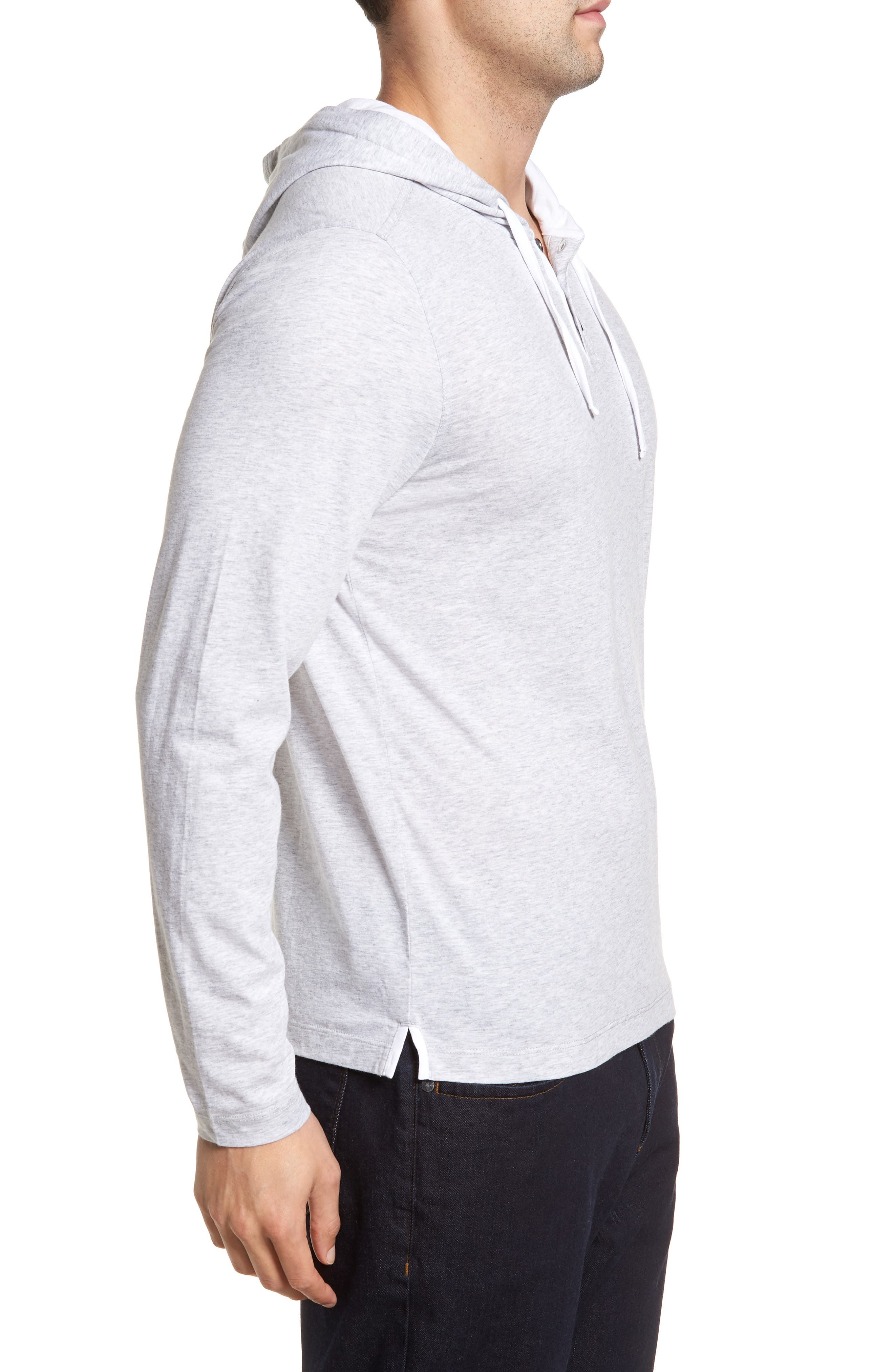 Carl Pullover Hoodie,                             Alternate thumbnail 3, color,                             DOVE GREY