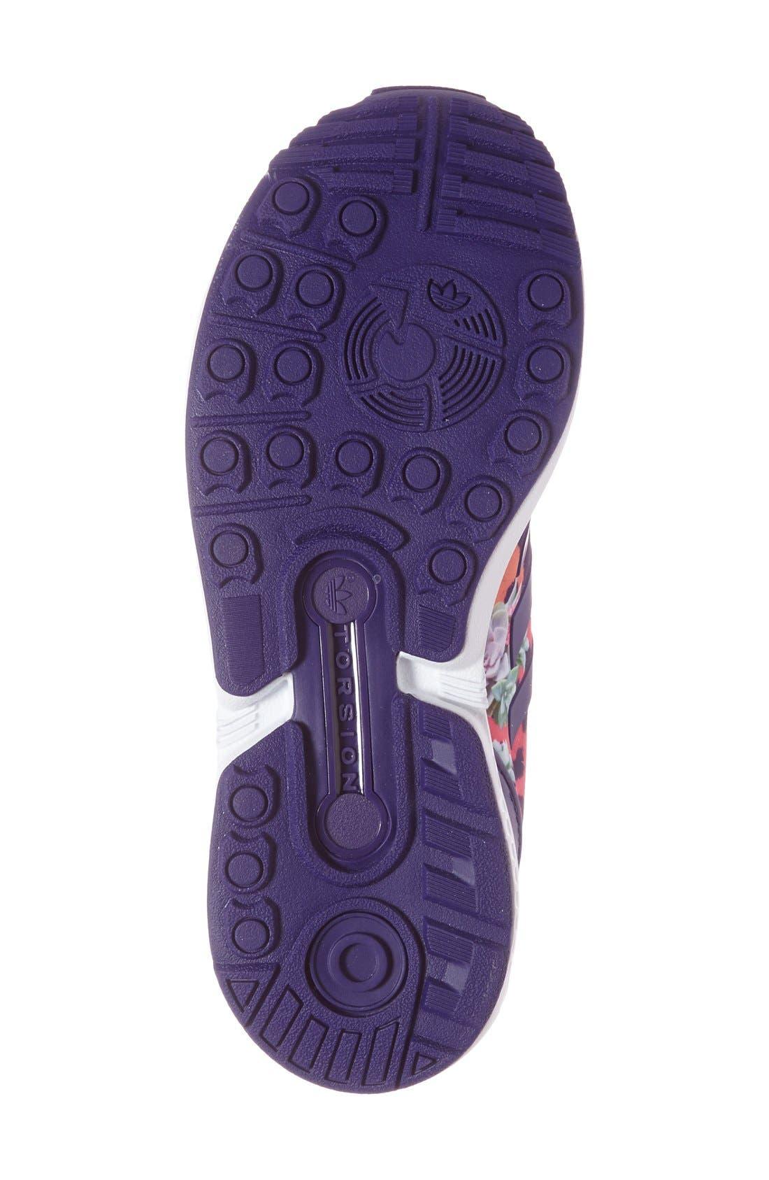 'ZX Flux EL' Print Running Shoe,                             Alternate thumbnail 3, color,                             500