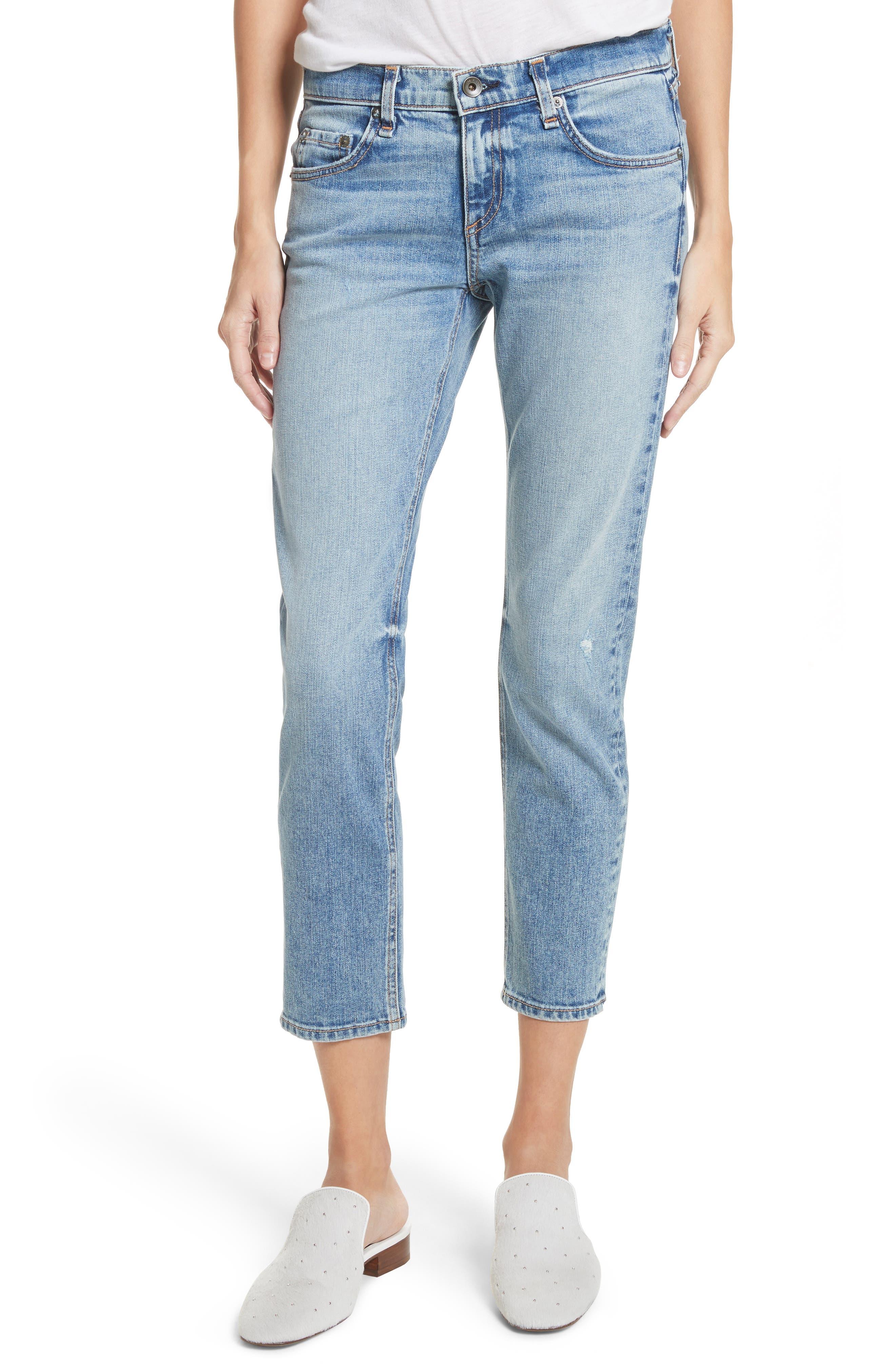 The Dre Ankle Slim Boyfriend Jeans,                         Main,                         color, 420