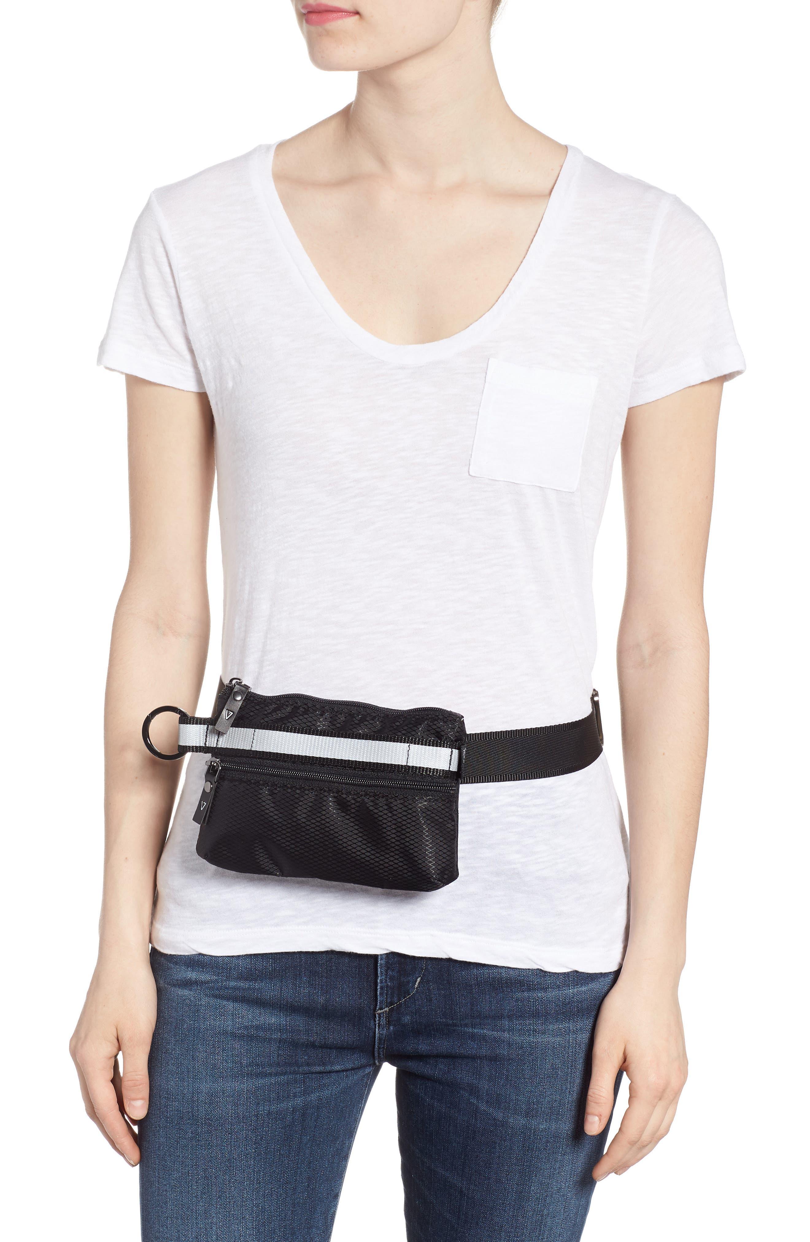 Urban Clutch Convertible Belt Bag,                             Alternate thumbnail 2, color,                             BLACK/ REFLECTIVE STRIPE