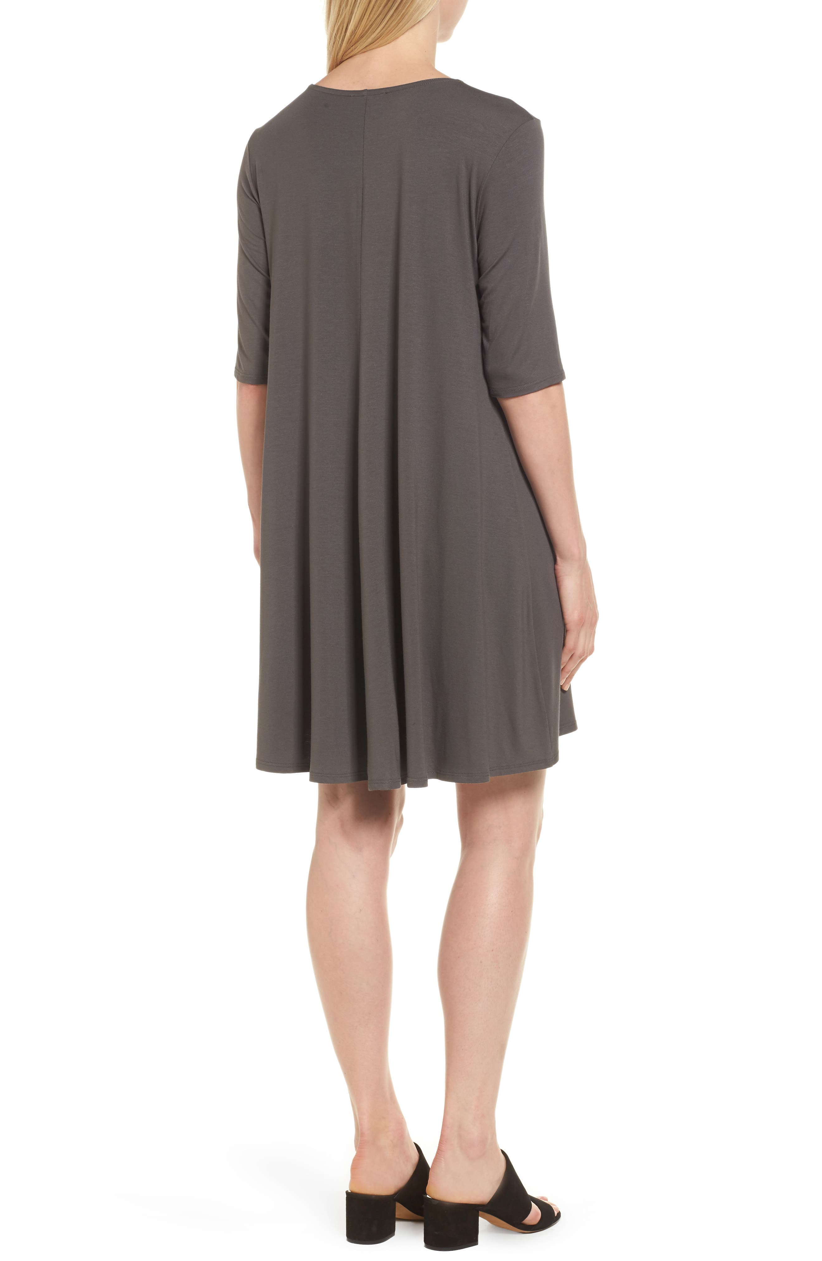Lightweight Jersey Round Neck Tunic,                             Alternate thumbnail 8, color,